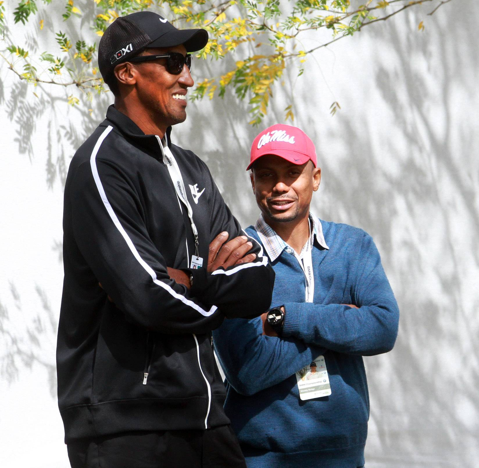 Former Chicago Bulls player Scottie Pippen watches the tournament on Monday.