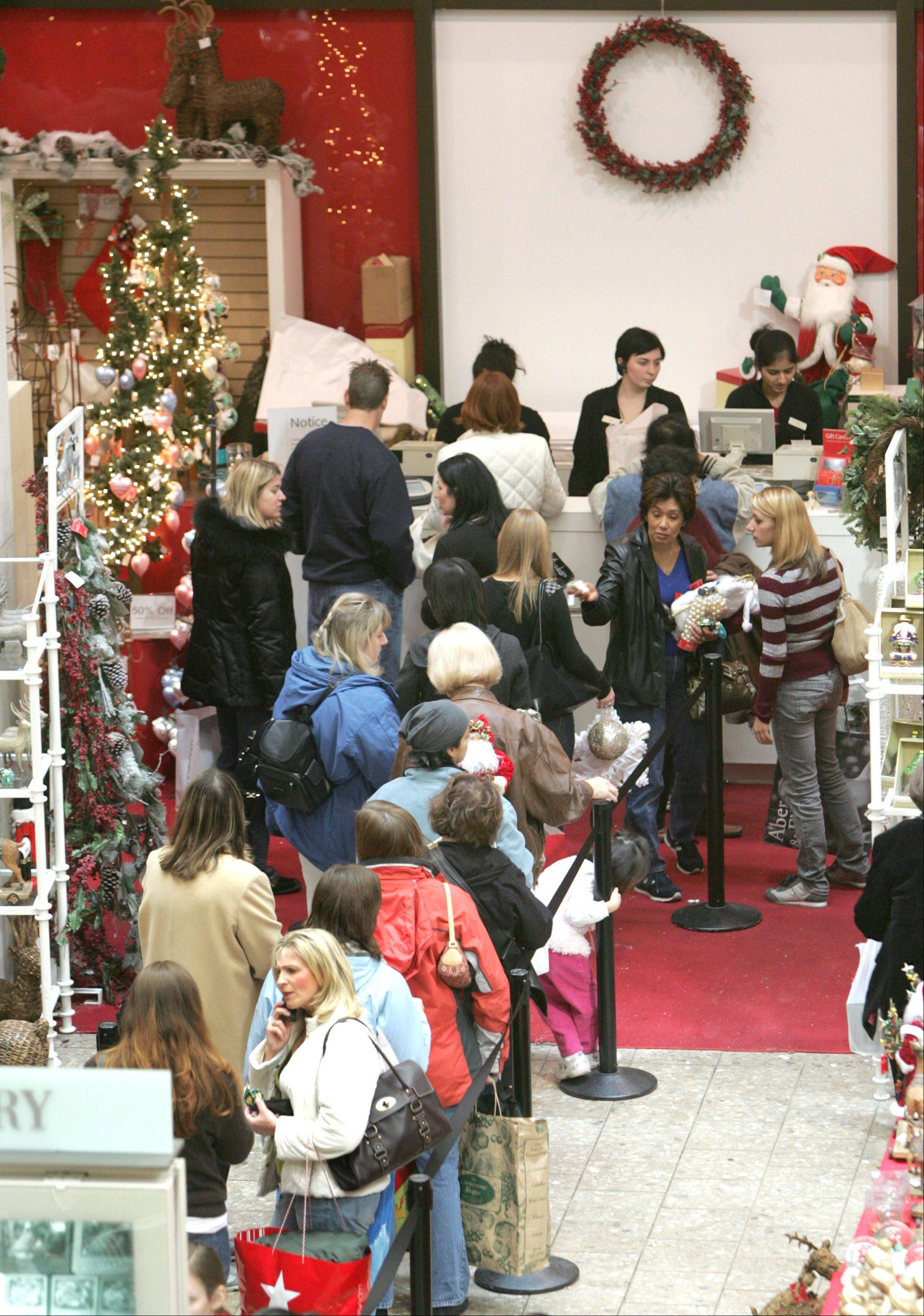 Retail revenue in November and December should rise 2.4 percent during the biggest shopping period of the year, Chicago-based research firm ShopperTrak said Tuesday.