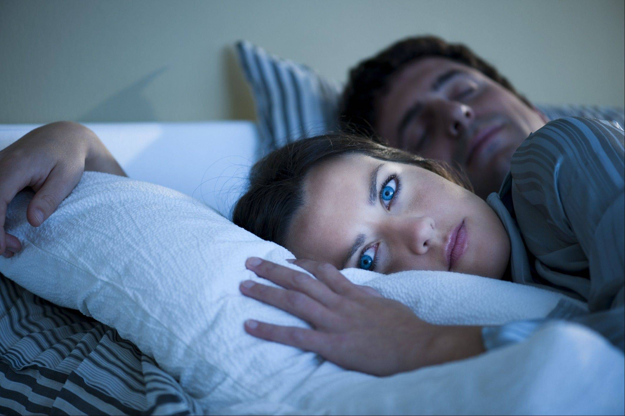Don't stay in bed when you can't sleep, experts say.