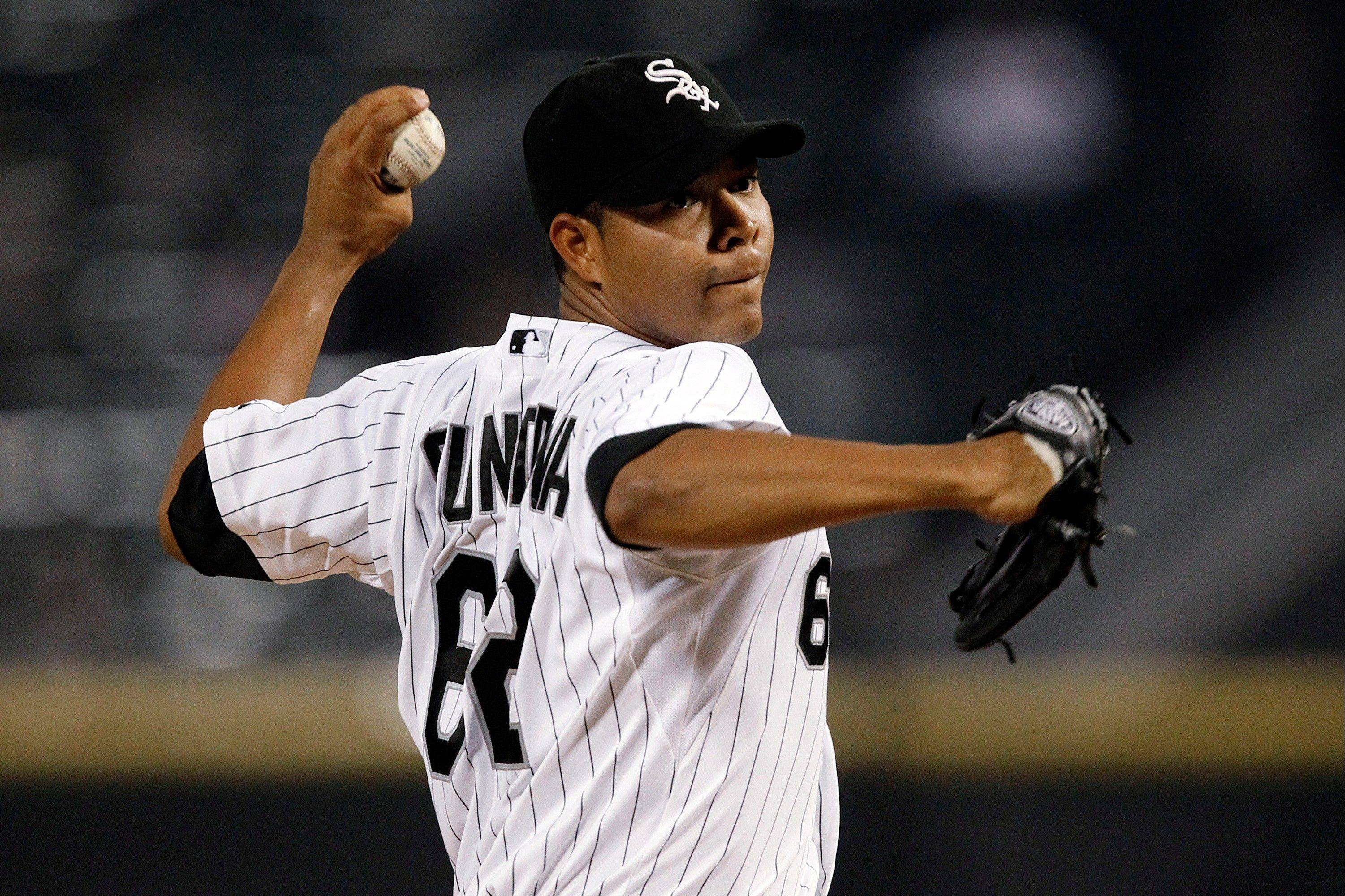 White Sox starting pitcher Jose Quintana improved to 8-6 with Tuesday night's victory over the Twins.