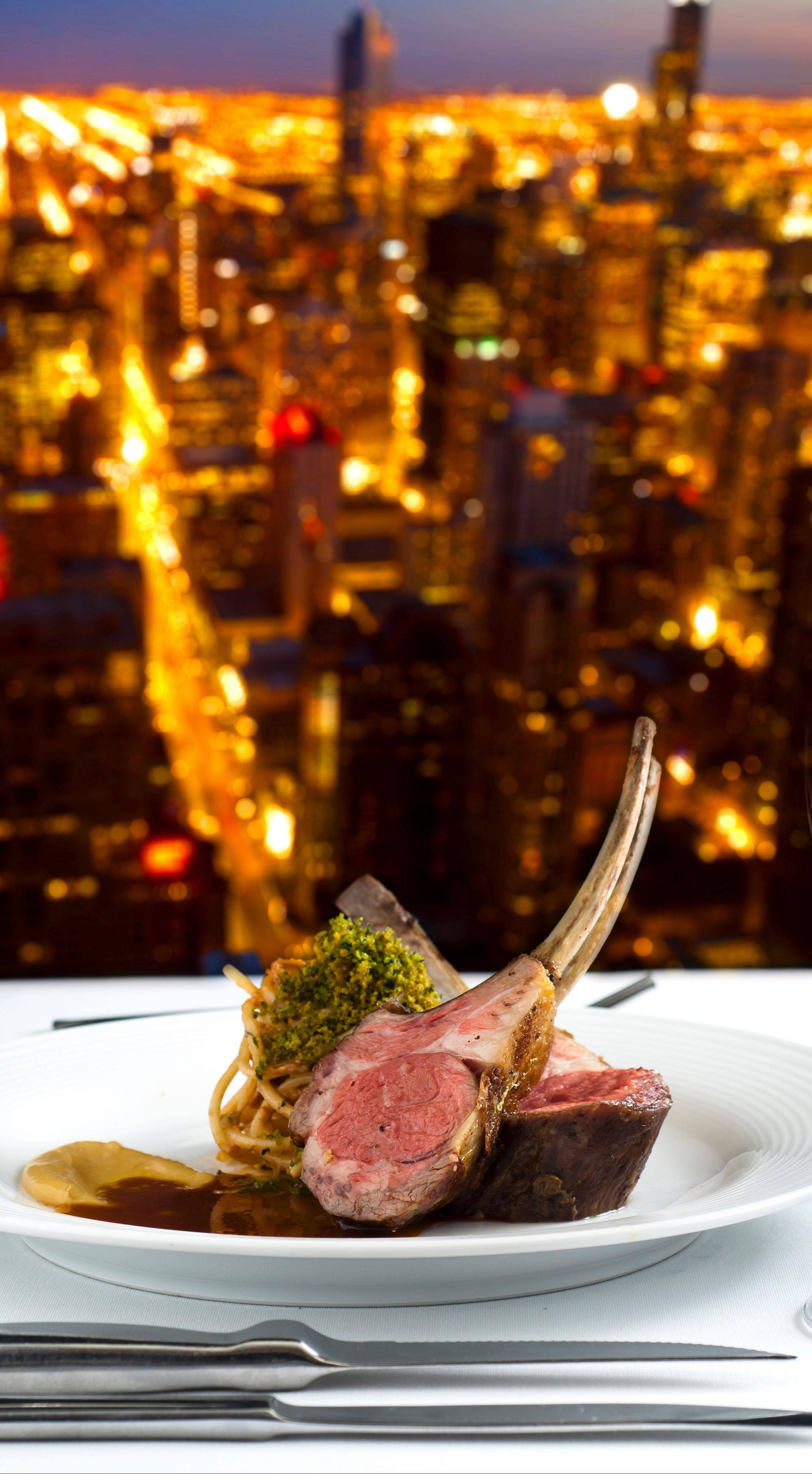Rack of Lamb with Parmigiano-Reggiano Panna Cotta and Roasted Root Vegetables with Mint Pesto is one of the dishes chef Rosalia Barron, chef at The Signature Room, will prepare next month at the James Beard House in New York City.