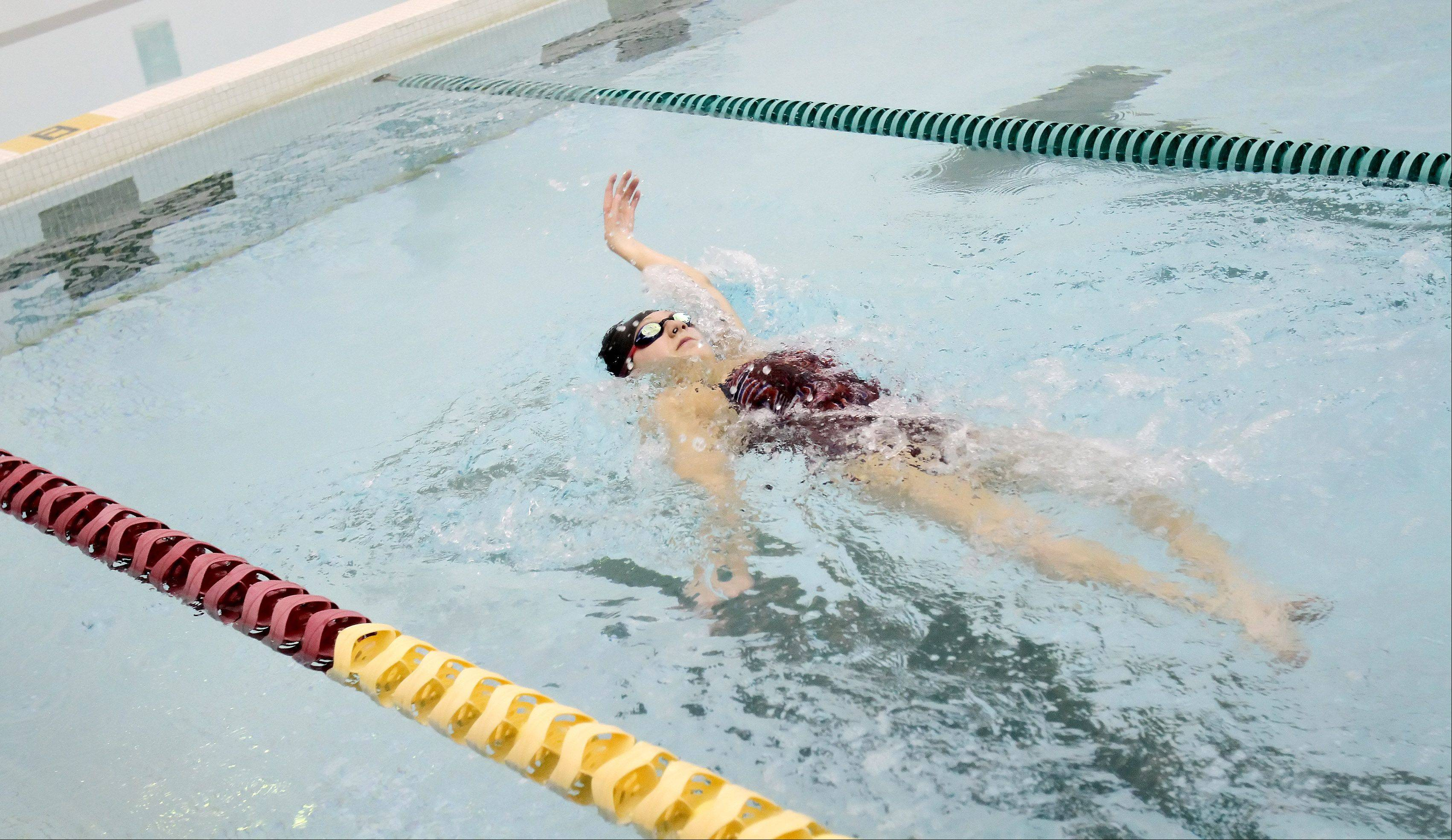 Alyssa Gialamas of Naperville won a bronze medal as part of a 200-meter medley relay team at the International Paralympic Committee World Championships in Montreal. She�s training in hopes of medaling in the next Paralympics in 2016 in Rio de Janeiro.