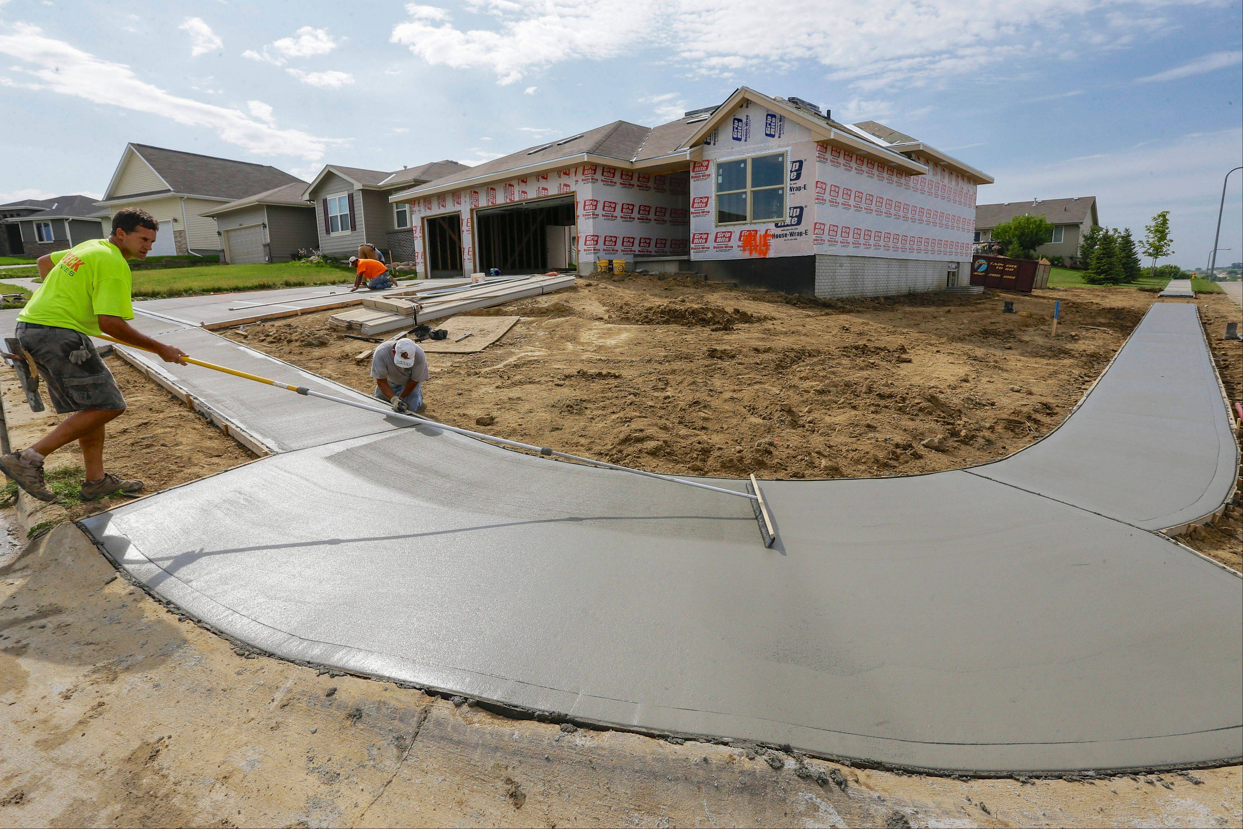 A new home under construction in Omaha, Neb. U.S. builders started work in August on the most single-family homes in six months and requested permits to build even more in future months.