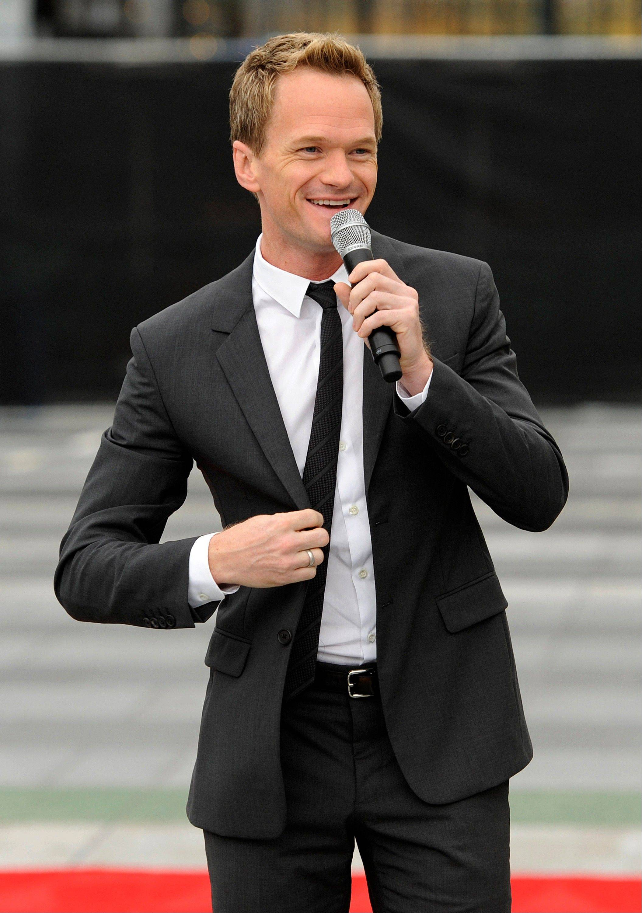 Neil Patrick Harris, host of Sunday's 65th Emmy Awards telecast, addresses reporters during Emmy Awards Press Preview Day on Wednesday.