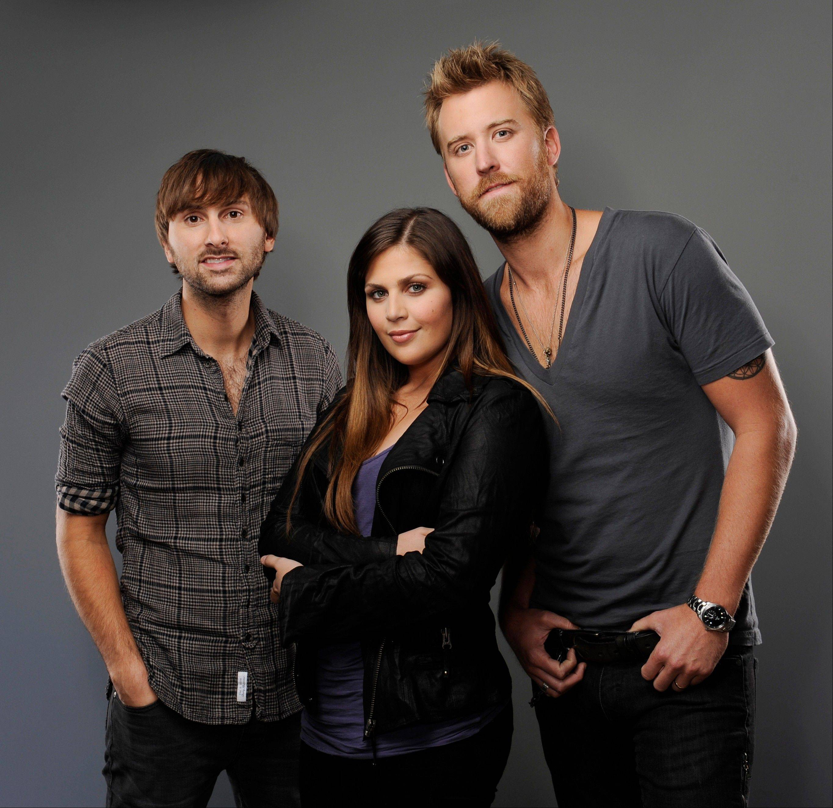 Lady Antebellum -- consisting of Dave Haywood, Hillary Scott and Charles Kelley -- will play the Allstate Arena in Rosemont on Nov. 15.