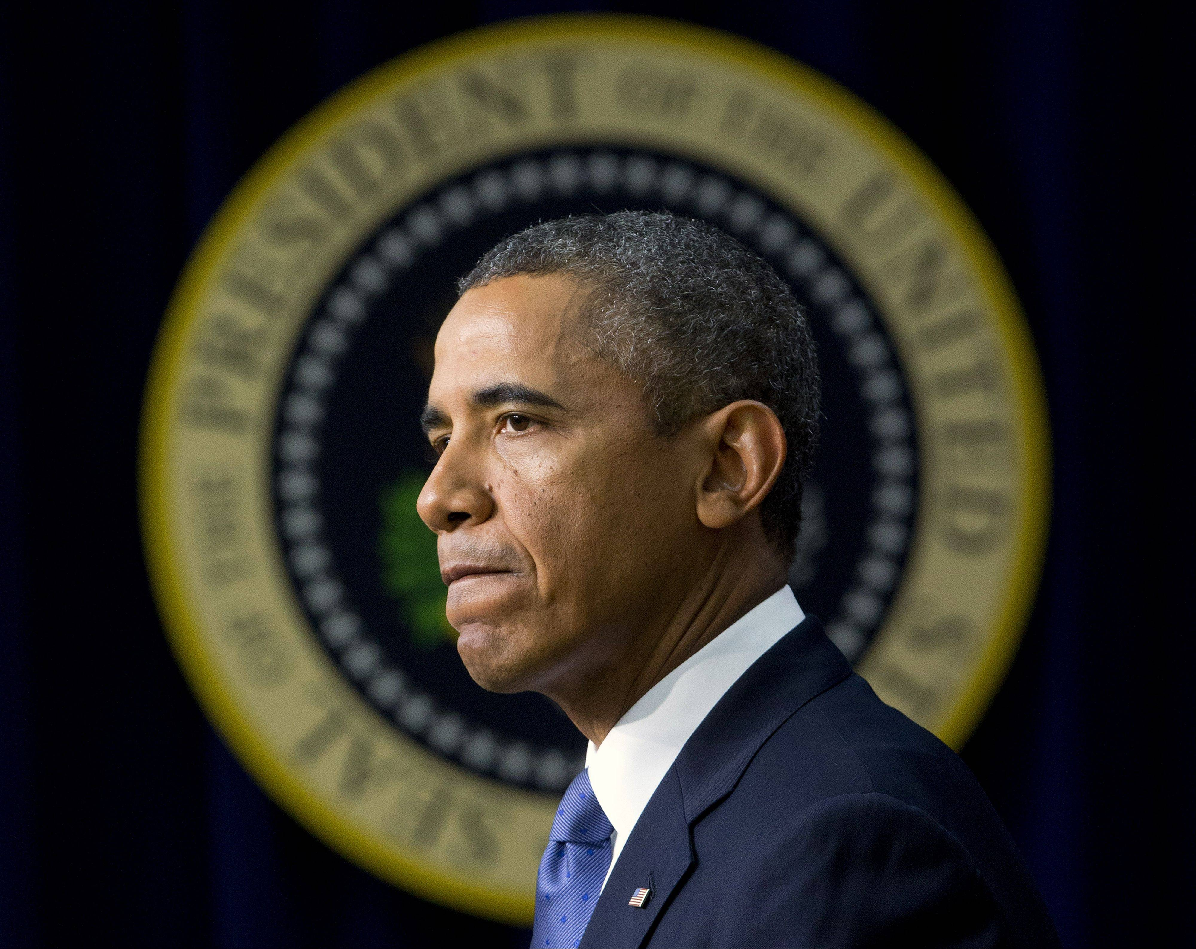 President Barack Obama, facing a budget showdown with Congress, is pushing his economic agenda to some of the nation's top corporate executives today while cautioning Republicans not to precipitate a government shutdown or an unprecedented debt default.