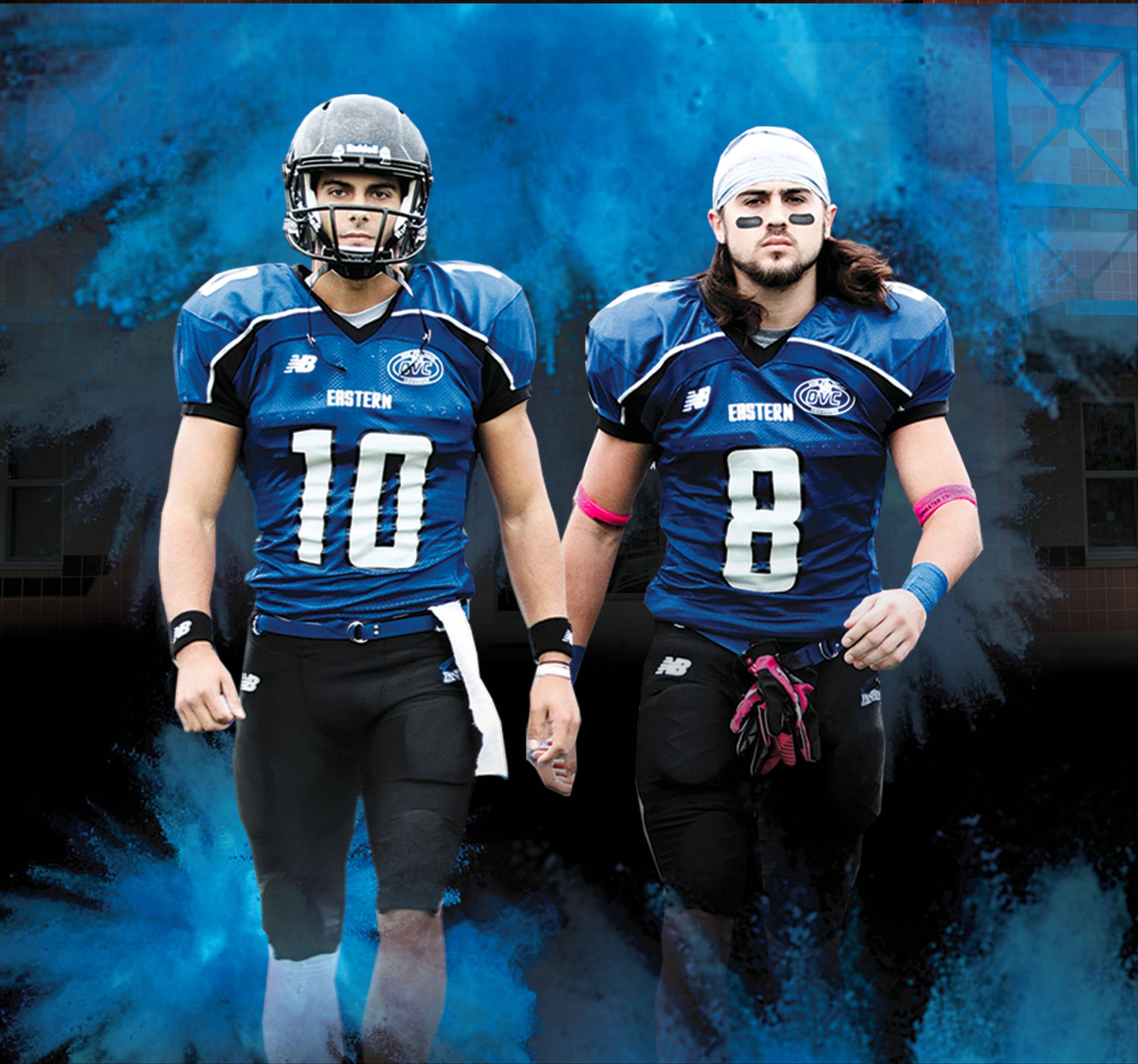 Eastern Illinois quarterback Jimmy Garoppolo of Rolling Meadows and wide receiver Erik Lora of Miami are creating problems for defenses this season. Garoppolo has thrown for 14 touchdowns in three games, and Lora has 31 receptions and 6 TDs as well.