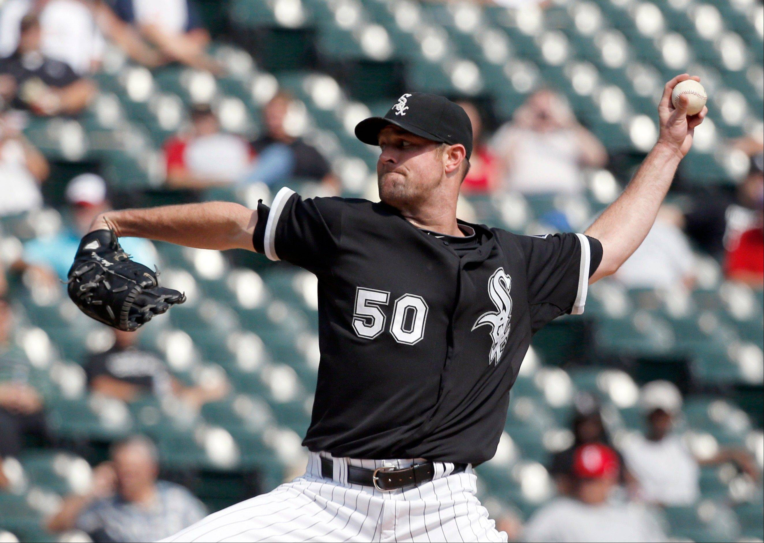 White Sox starter John Danks gave up 4 runs on 7 hits in the first 2 innings, but rebounded to retire the final 16 batters he faced Wednesday against the Twins at U.S. Cellular Field.