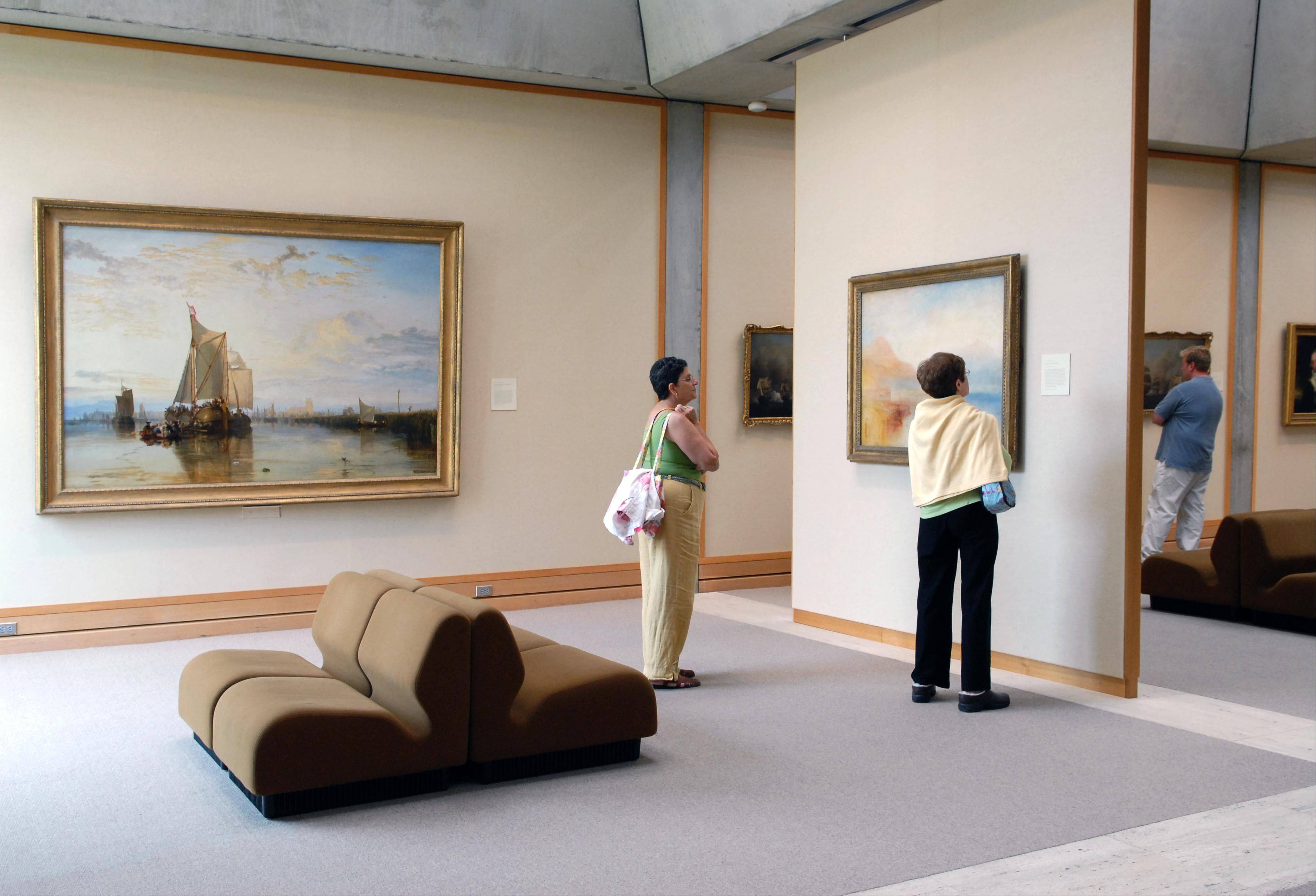 A gallery with a painting by J.M.W. Turner at the Yale Center for British Art in New Haven, Conn. The center houses the largest collection of British art outside the United Kingdom.