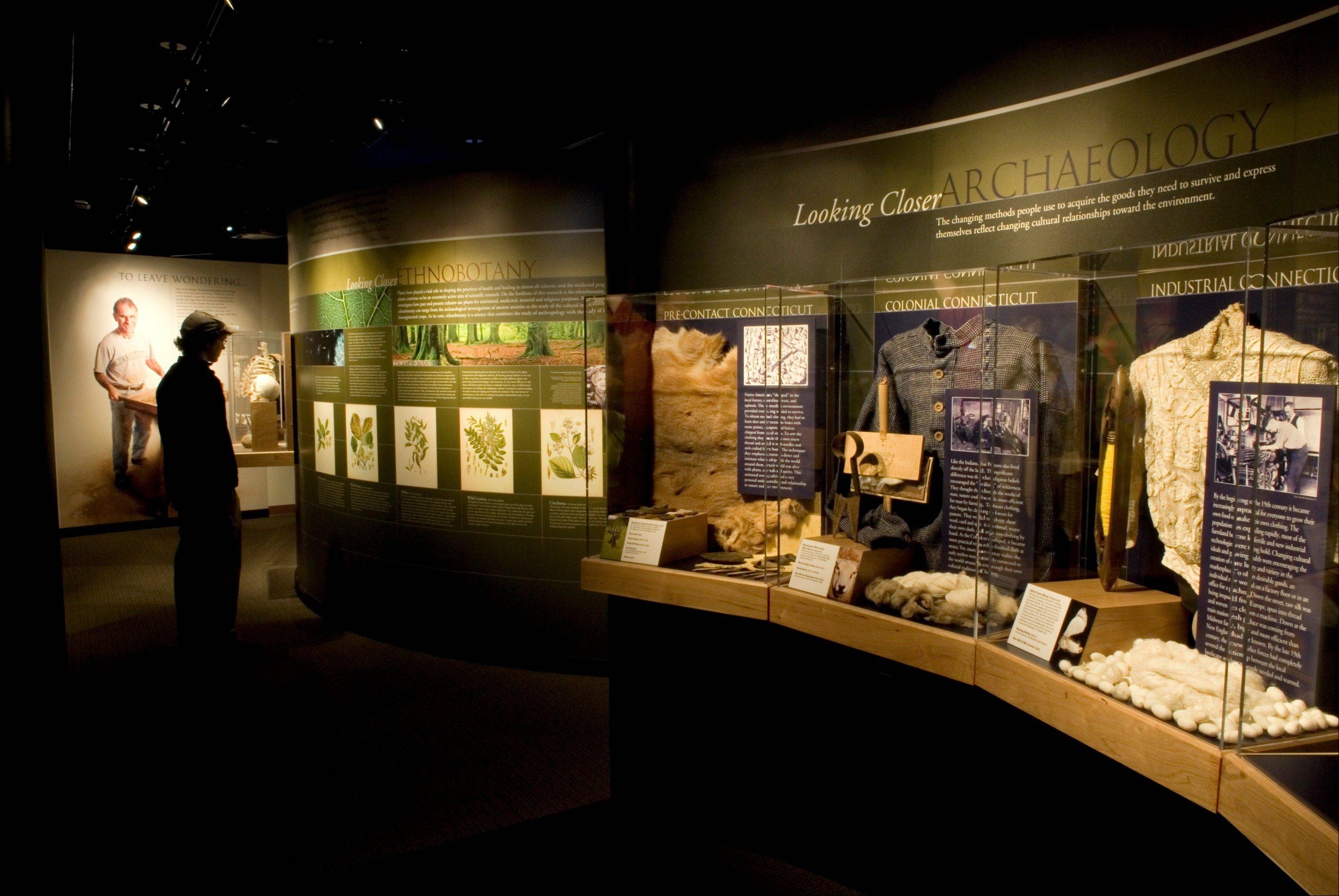 "The exhibit ""Human Nature: Looking Closer at the Relationships between People and the Environment"" is featured at the Connecticut State Museum of Natural History."