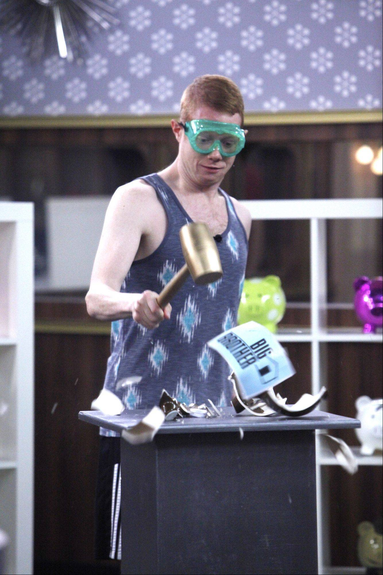 Houseguest Andy is bestowed the gift of wealth from HOH Spencer, on BIG BROTHER, Sunday, September 8.