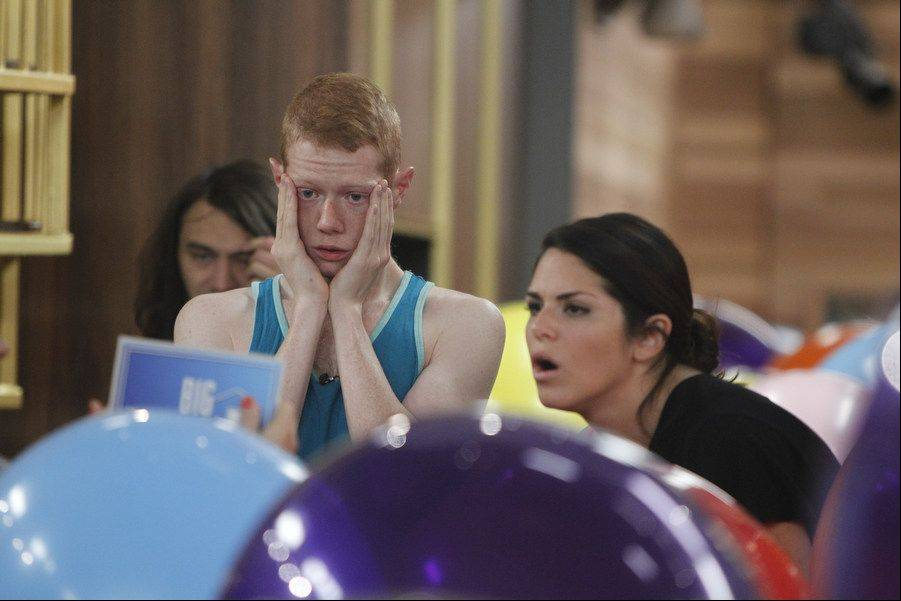 Big Brother Houseguest Andy and Amanda listen to the rules of the Luxury Competition on BIG BROTHER, Sunday, September 1.