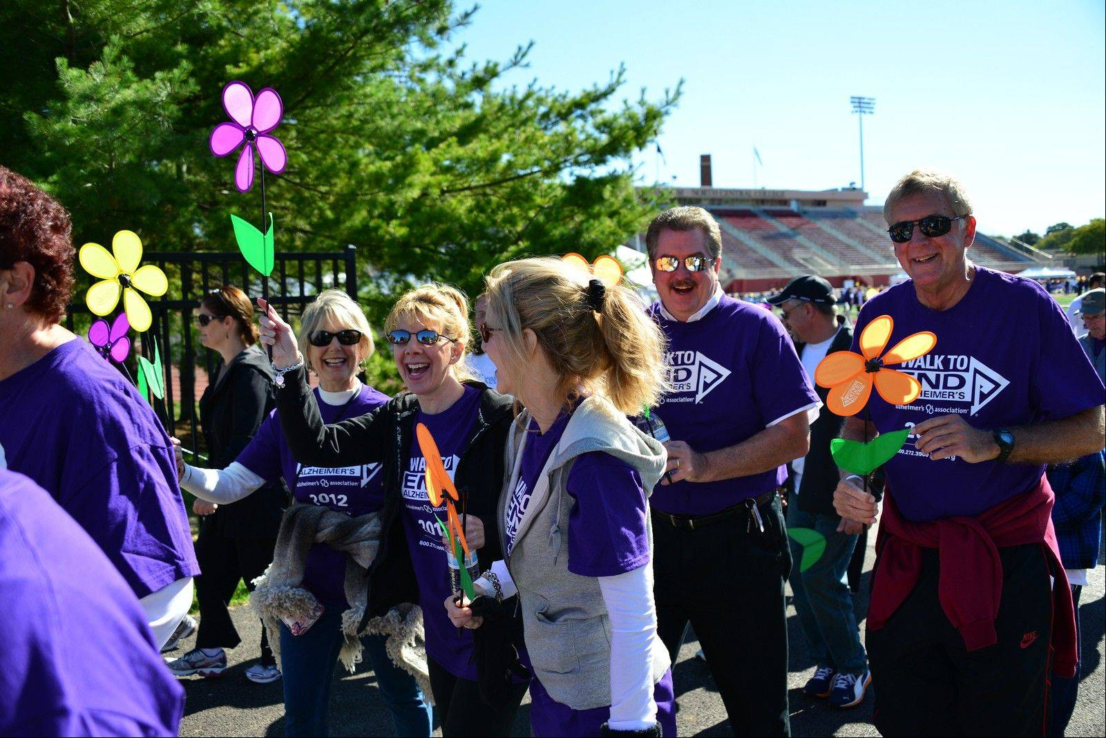 The Walk to End Alzheimer's, on Sunday at North Central College's Benedetti-Wehrli Stadium will raise money to support research and programs through the Alzheimer's Association.