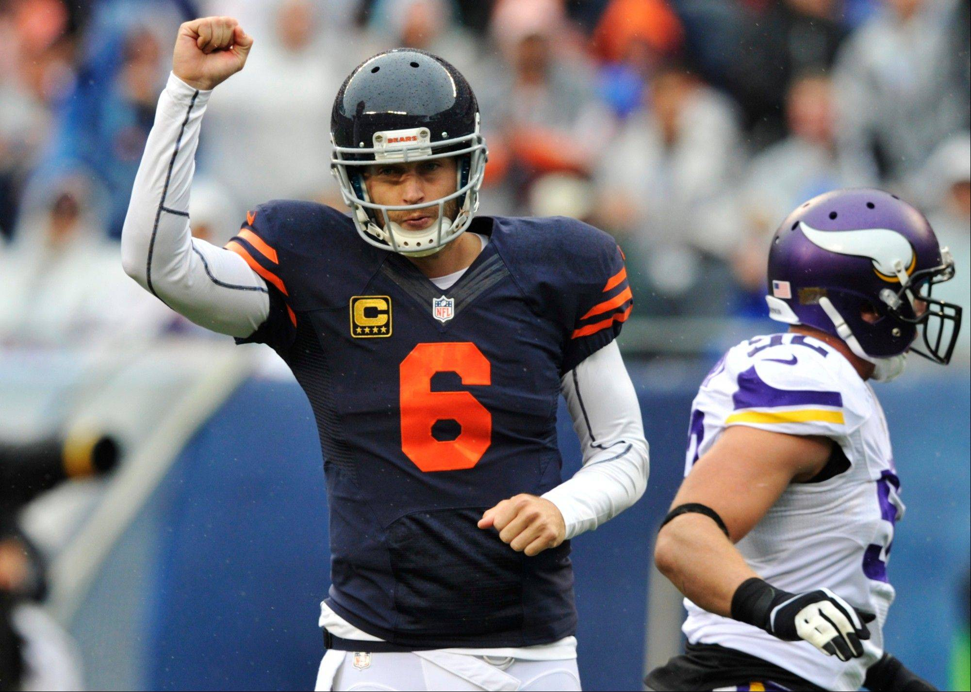 "Jay Cutler appeared in an episode of ""The League"" on Wednesday. Doing scenes for the show wasn't the easiest thing the Bears' QB has done, though. ""You do your thing and then it's like three hours (of waiting around),"" Cutler said."