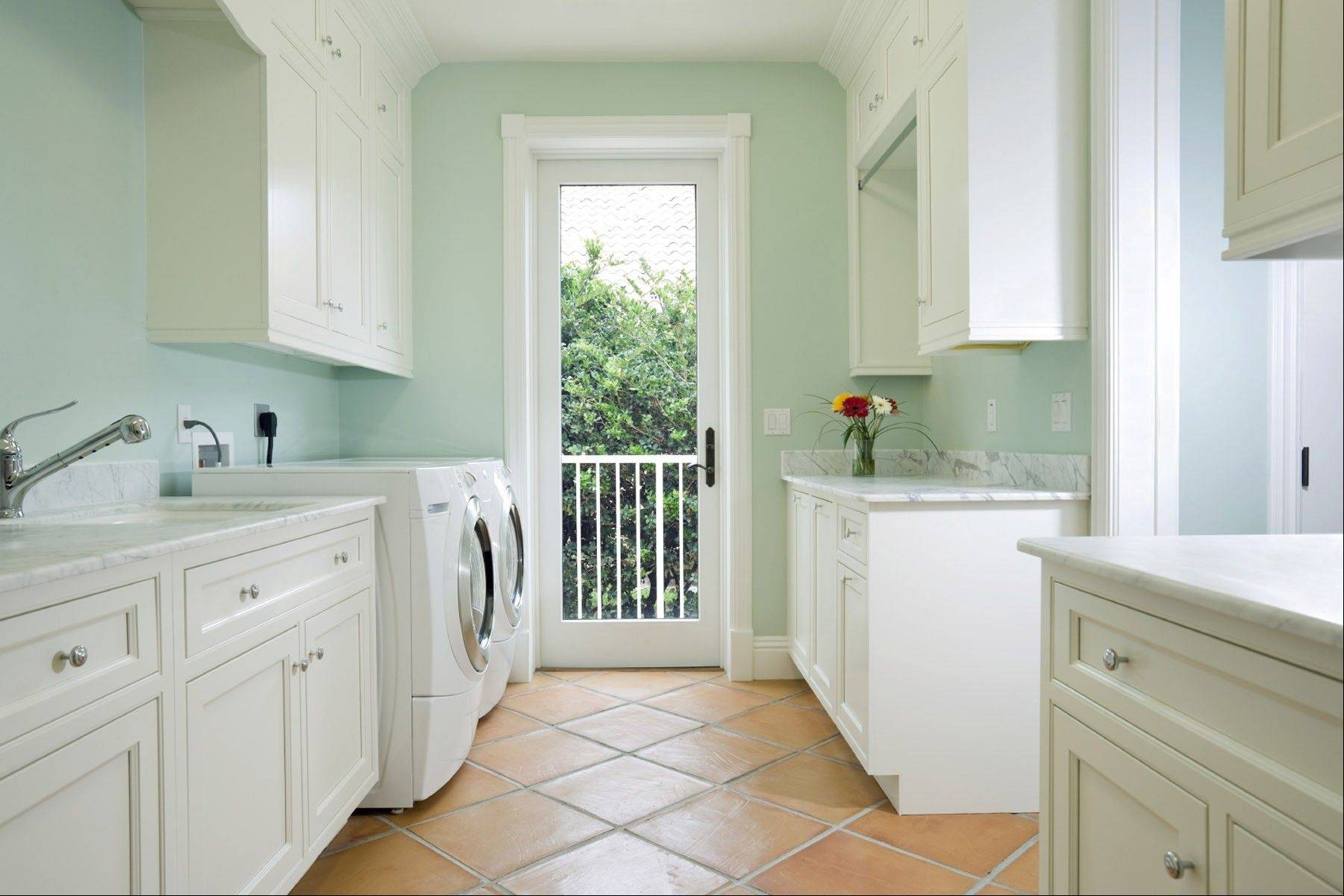 A sink to wash delicate items, or even a small pet, is a nice addition to your laundry room.