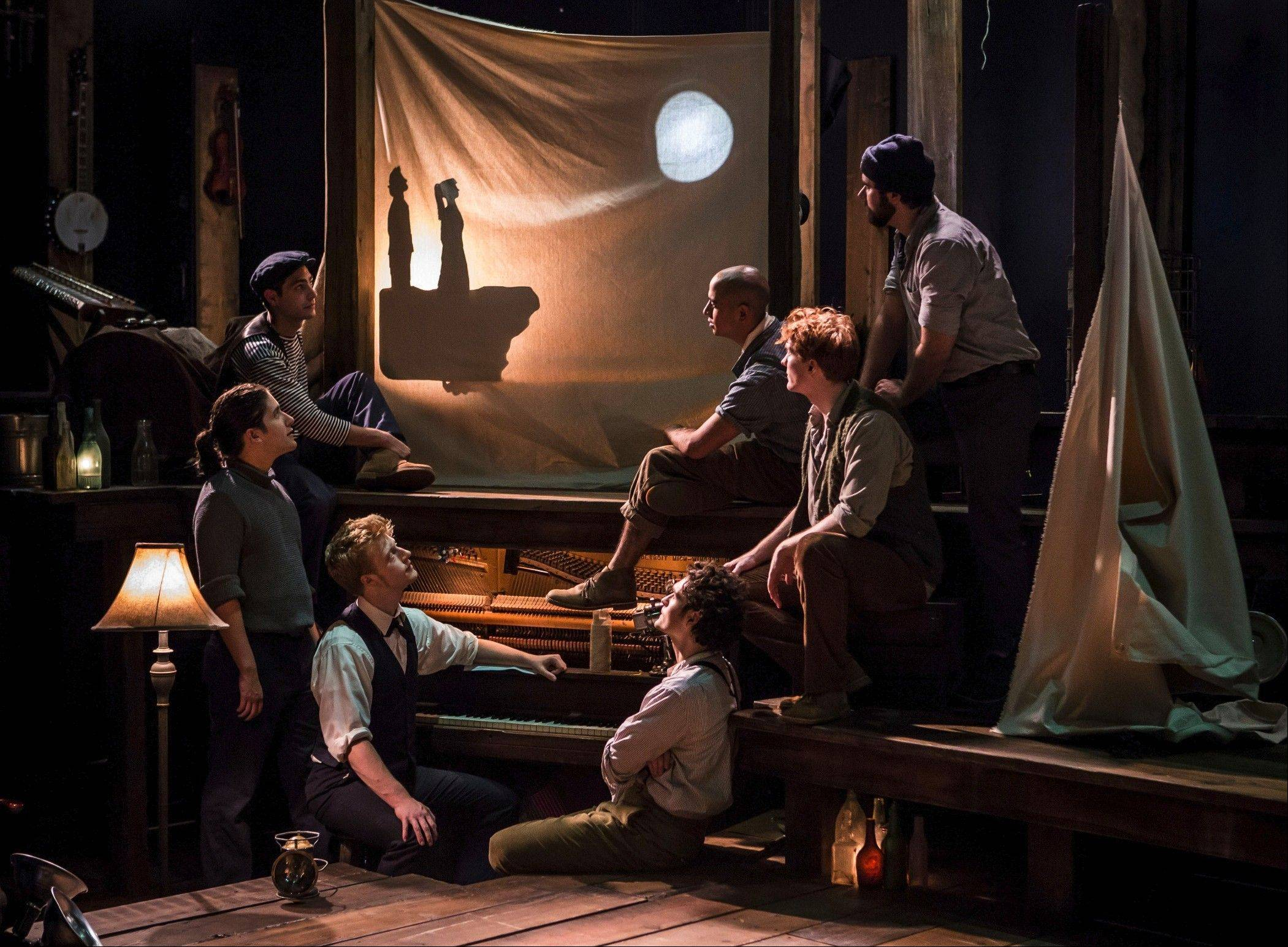 "New York-based PigPen Theatre Company brings to Glencoe's Writers Theatre the original fable ""The Old Man and the Old Moon"" featuring music, shadow puppetry and inventive storytelling."