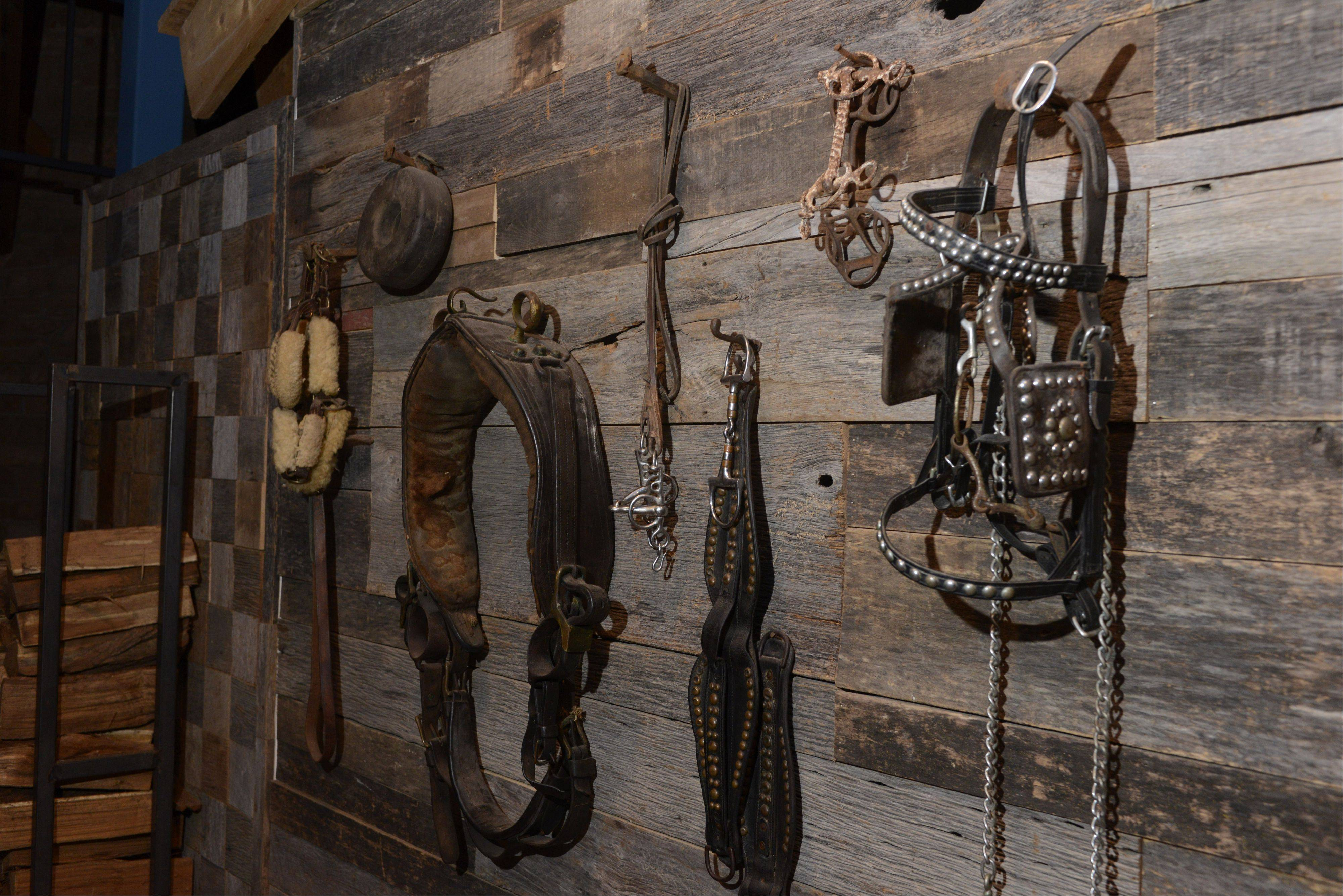 Horse-themed decor reinforces the name at Hoffman Estates' The Saddle Room.