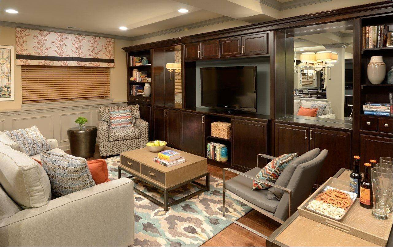 Informal family rooms, like this one in the Braeden townhouse model, are popular with buyers who want a finished basement.