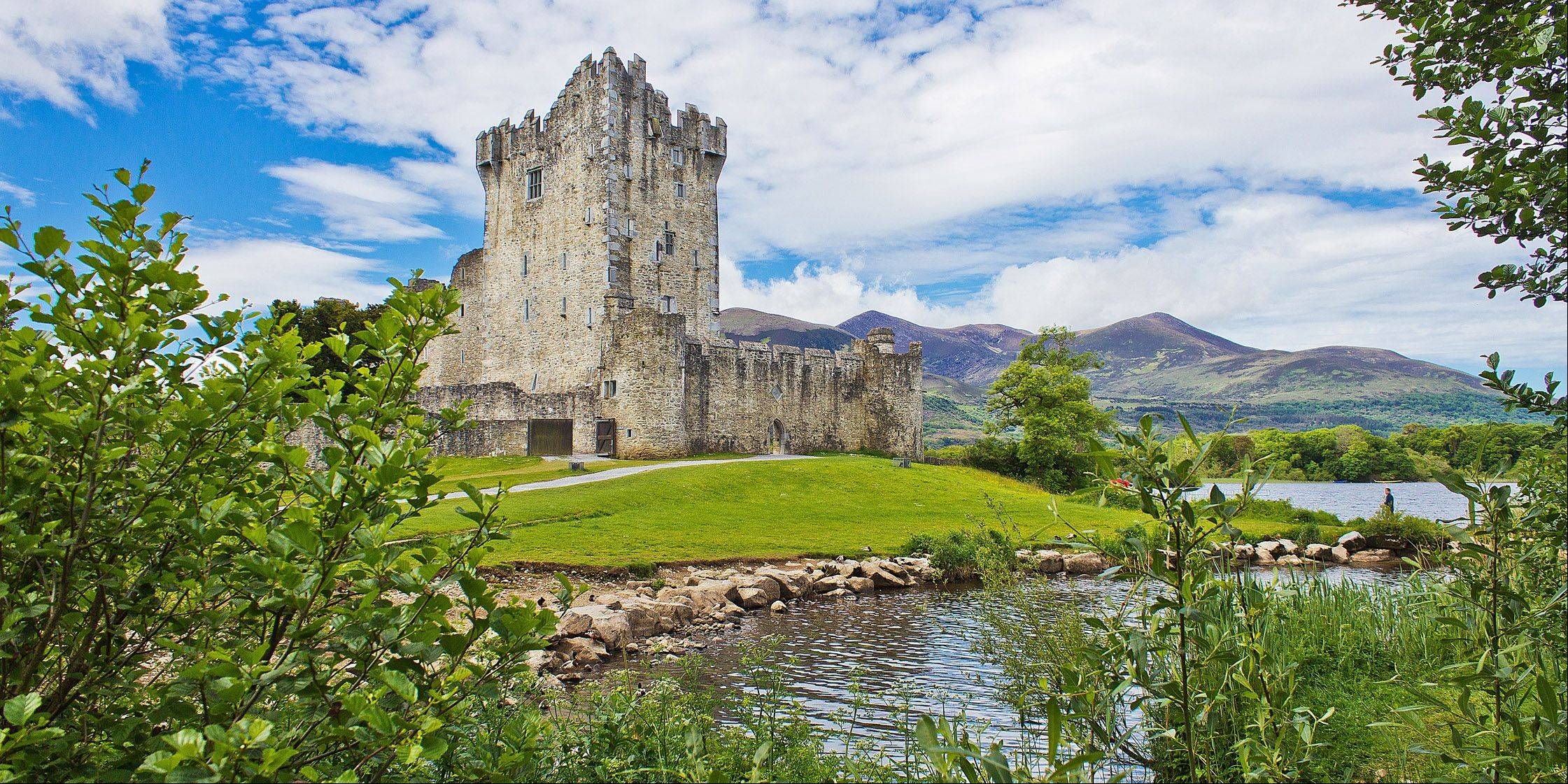 This is one of the abundant castles and ruins found in Ireland. This one is near Killarney in the British Isles.