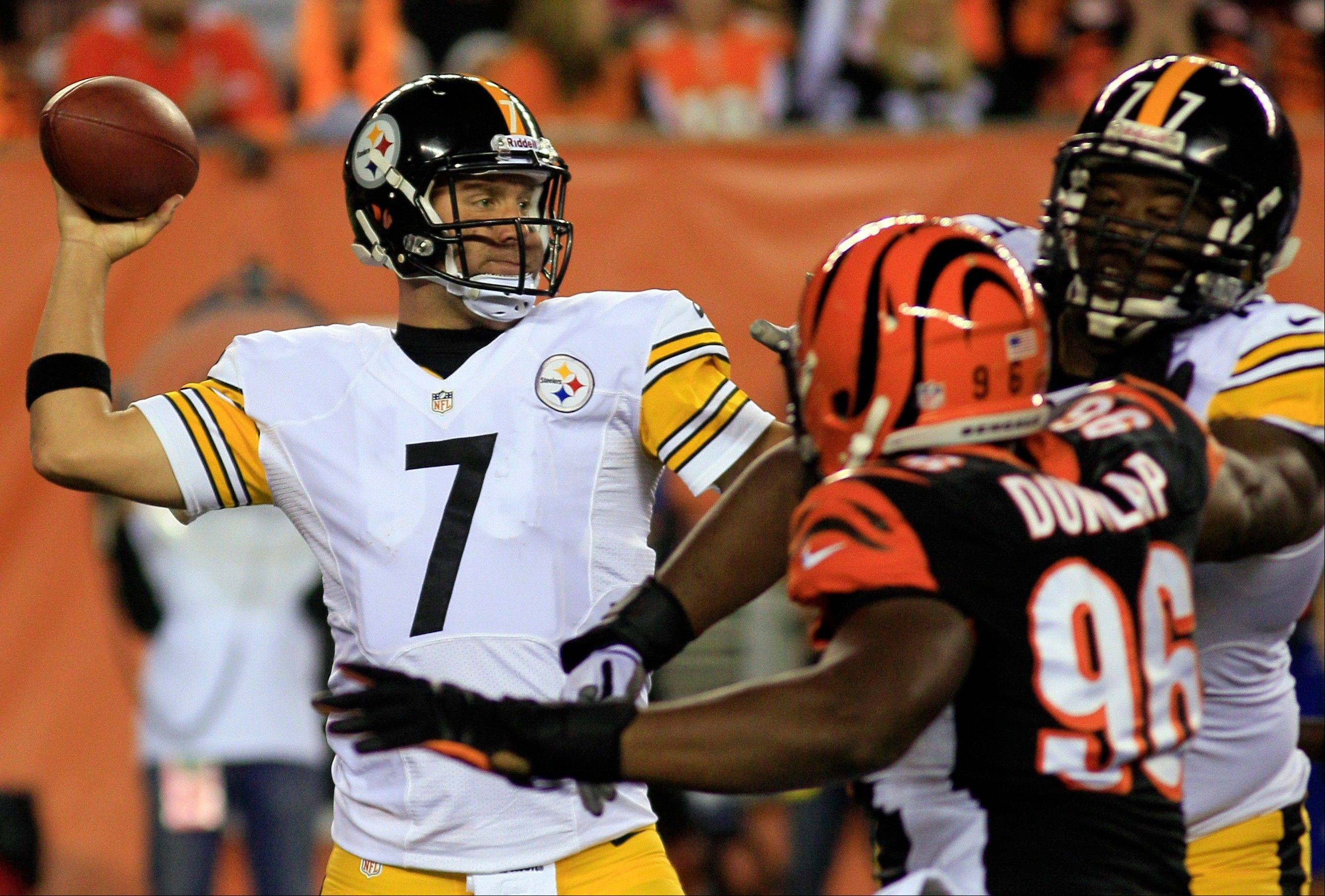 Pittsburgh quarterback Ben Roethlisberger will be looking for his team's first win of the season when the Steelers host the Chicago Bears on Sunday night.