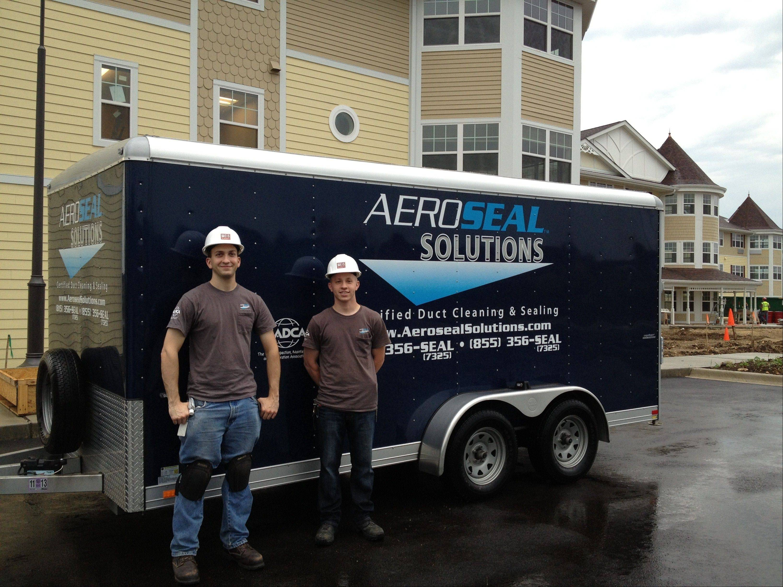 Aeroseal Solutions, based in Crystal Lake, sends trained staff to seal a home's ductwork system.