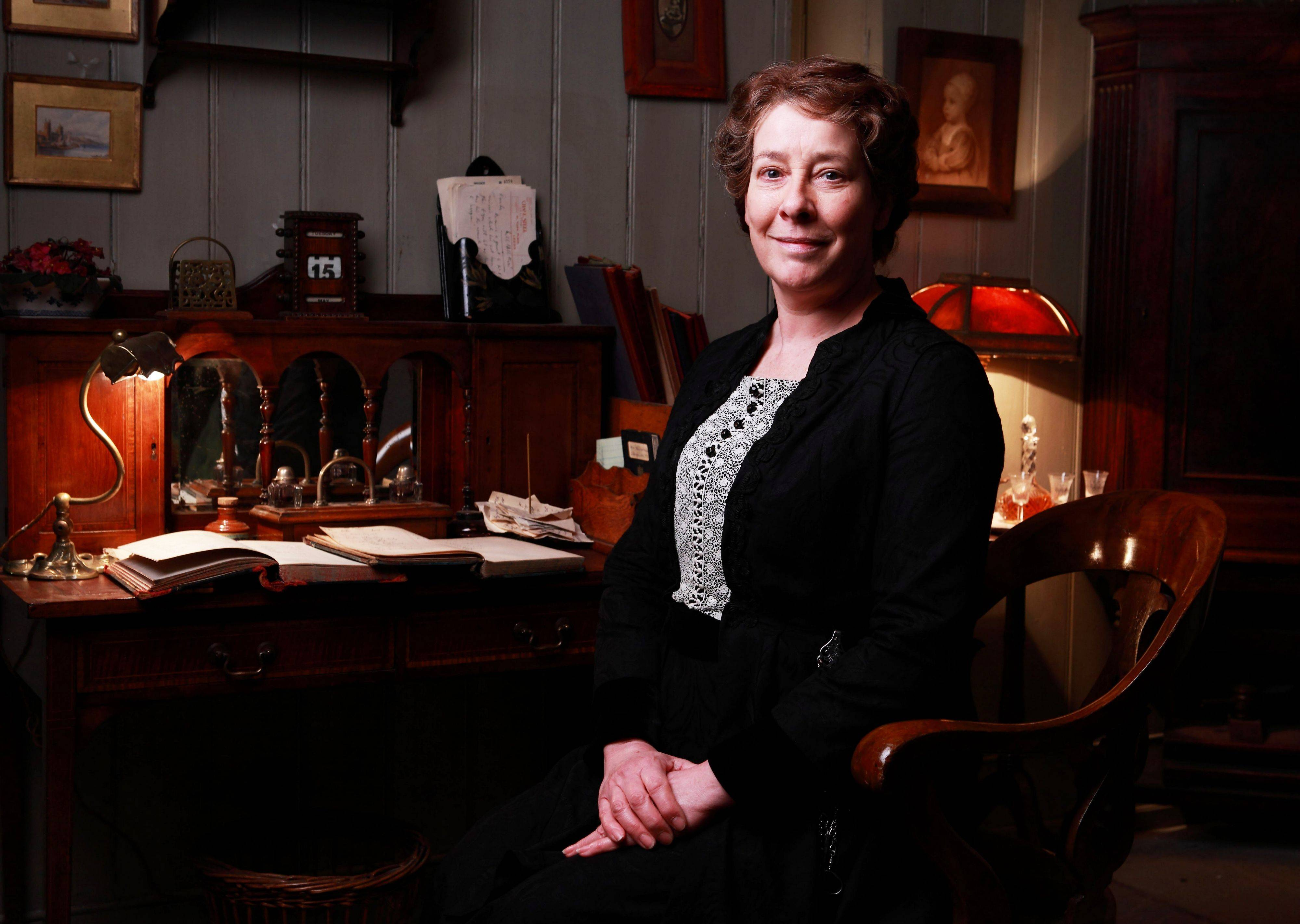 "Phyllis Logan plays Mrs. Hughes on ""Downton Abbey,"" which is nominated for outstanding drama series at Sunday's 65th Primetime Emmy Awards."