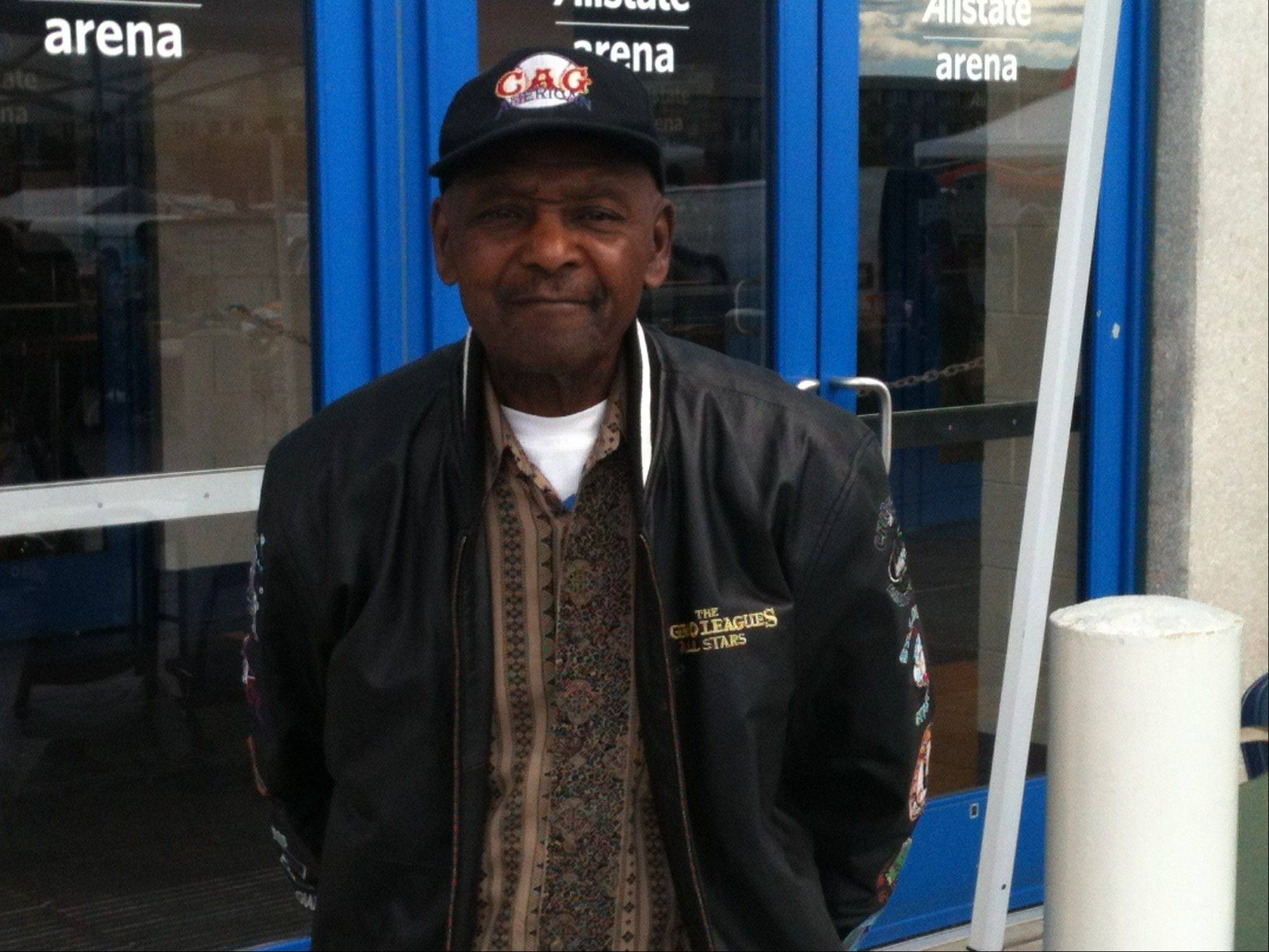 "Nathan ""Sonny"" Weston, a former Negro League baseball player, was one of several players who appeared at Wolff's Flea Market in Rosemont Sunday."