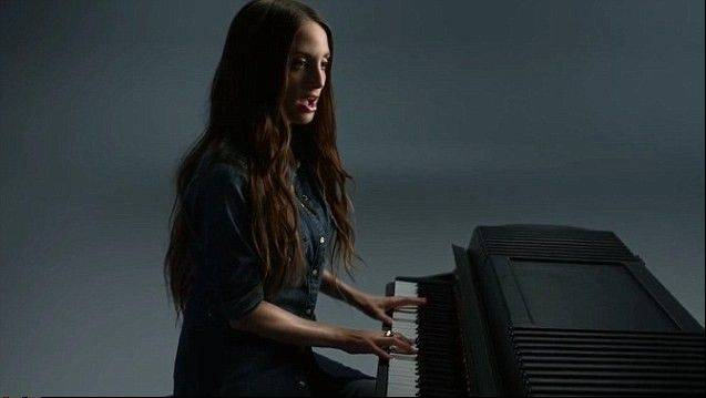 "Alexa Ray Joel, sings Billy Joel's ""Just The Way You Are"" accompanying herself on the piano in a new Gap ad."