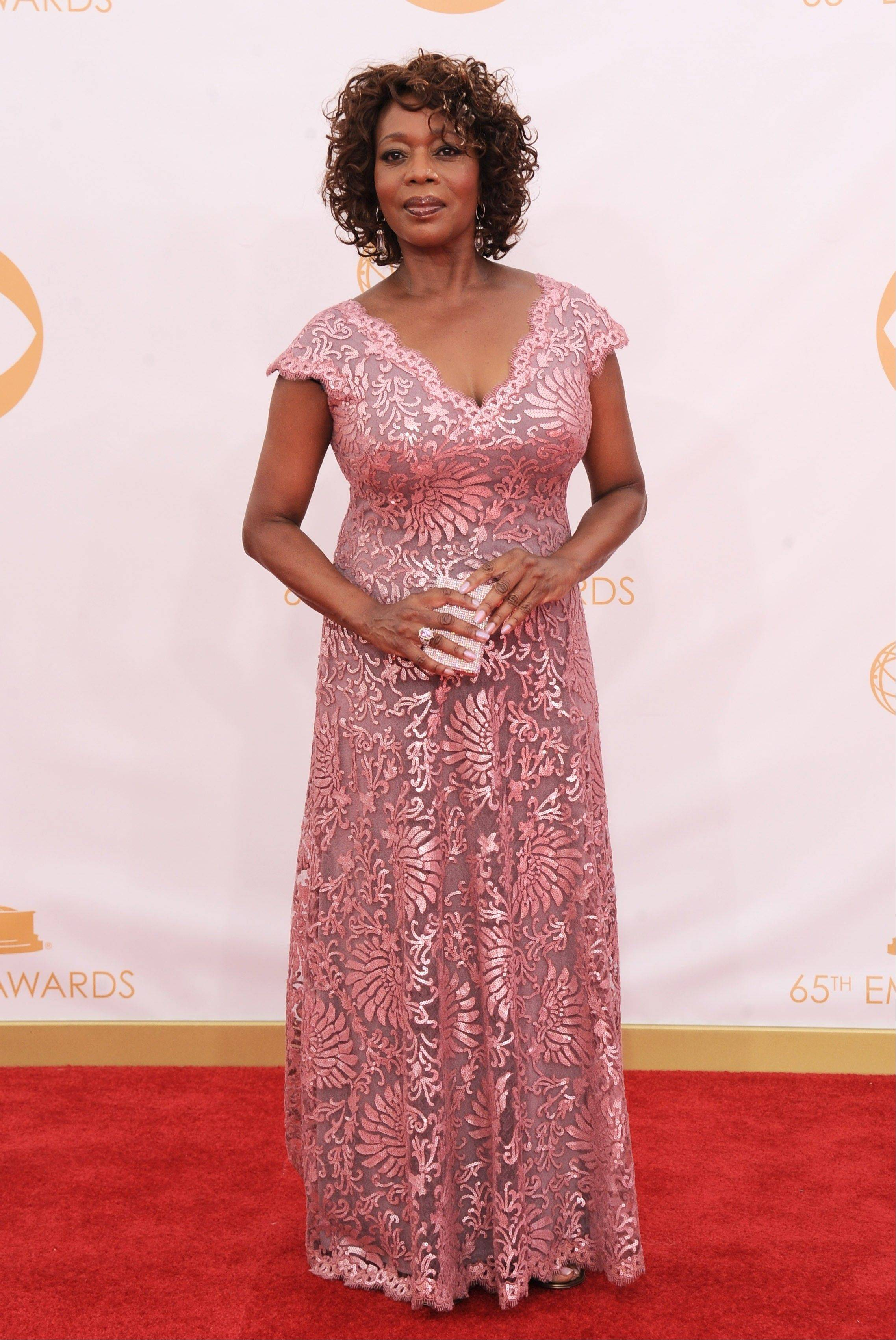 Alfre Woodard arrives at the 65th Primetime Emmy Awards at Nokia Theatre on Sunday Sept. 22, 2013, in Los Angeles.