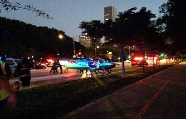 "A pilot from Lombard escaped injury early Sunday when mechanical problems with his small airplane forced him to make an emergency landing on Lake Shore Drive near Buckingham Fountain. Pilot John Pedersen, 51, said later he was ""just happy to be on the ground."""