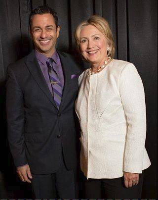 David Viggiano with Hillary Clinton