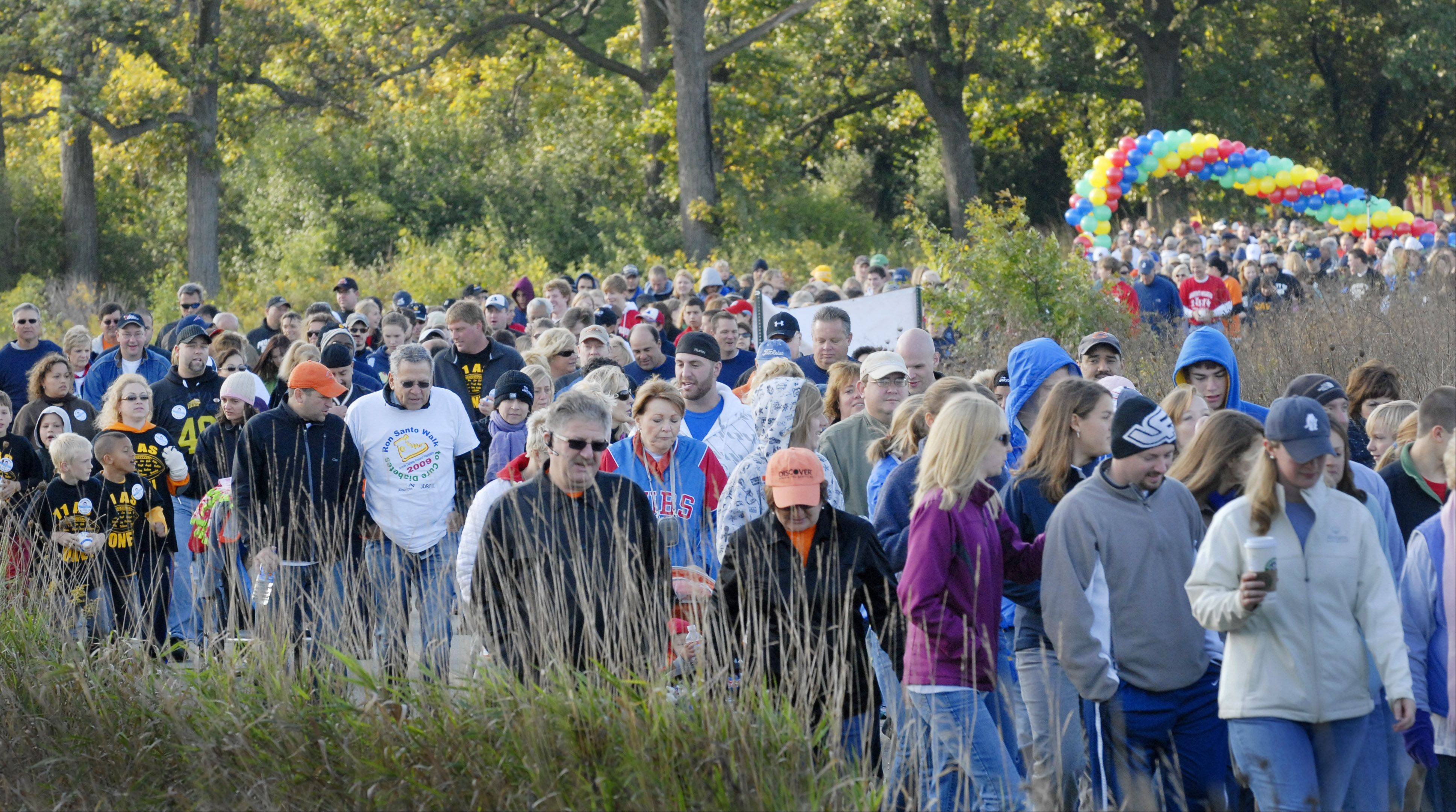 Ron Santo Walks in three suburban locations — including Independence Grove Forest Preserve in Libertyville — and on Chicago's lakefront will draw thousands of participants who help raise more than $4 million annual through the Illinois chapter of JDRF.