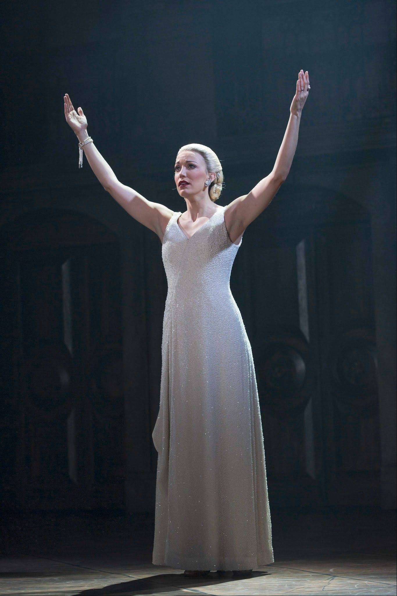 "Caroline Bowman stars as Eva Peron in the national tour of ""Evita,"" the 1978 musical by Andrew Lloyd Webber and Tim Rice which continues at the Oriental Theatre in Chicago through Oct. 6."