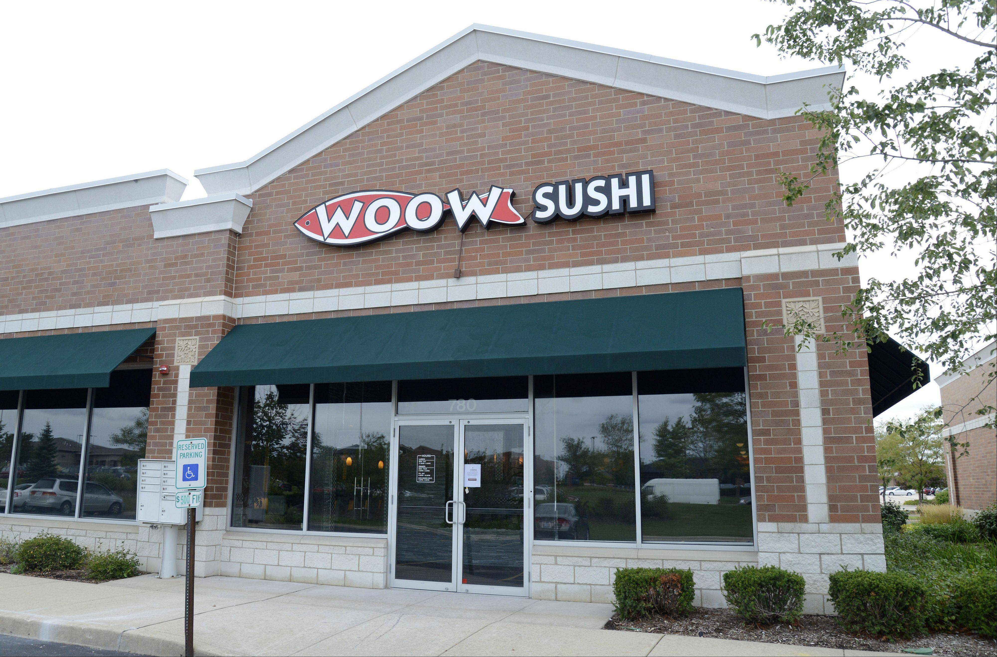 Woow Sushi will open soon on Randall Road in Algonquin.