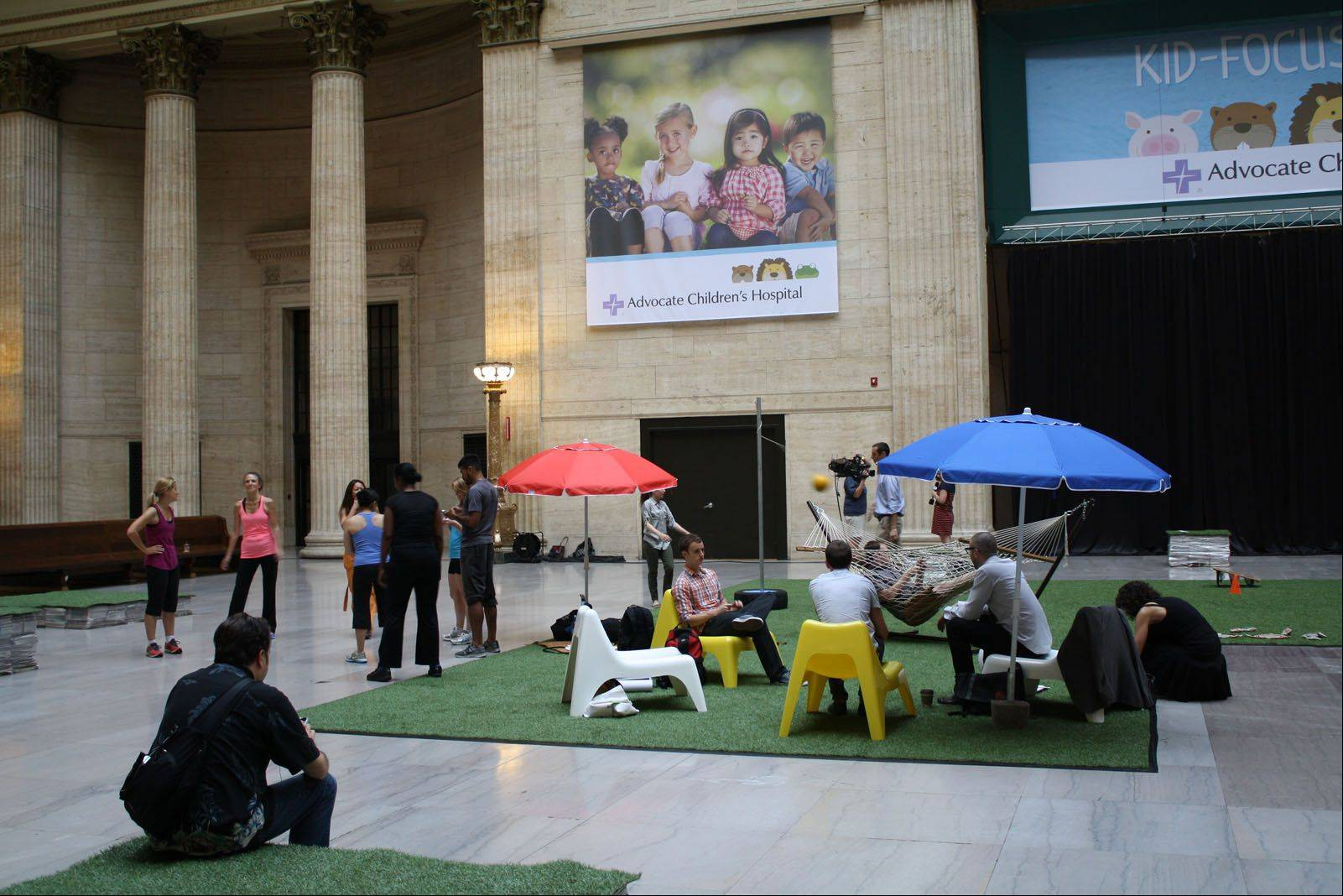 The winning design of Buffalo Grove native Corey Nissenberg's team focuses on bringing a suburban yard to the Great Hall of Union Station in a Chicago.