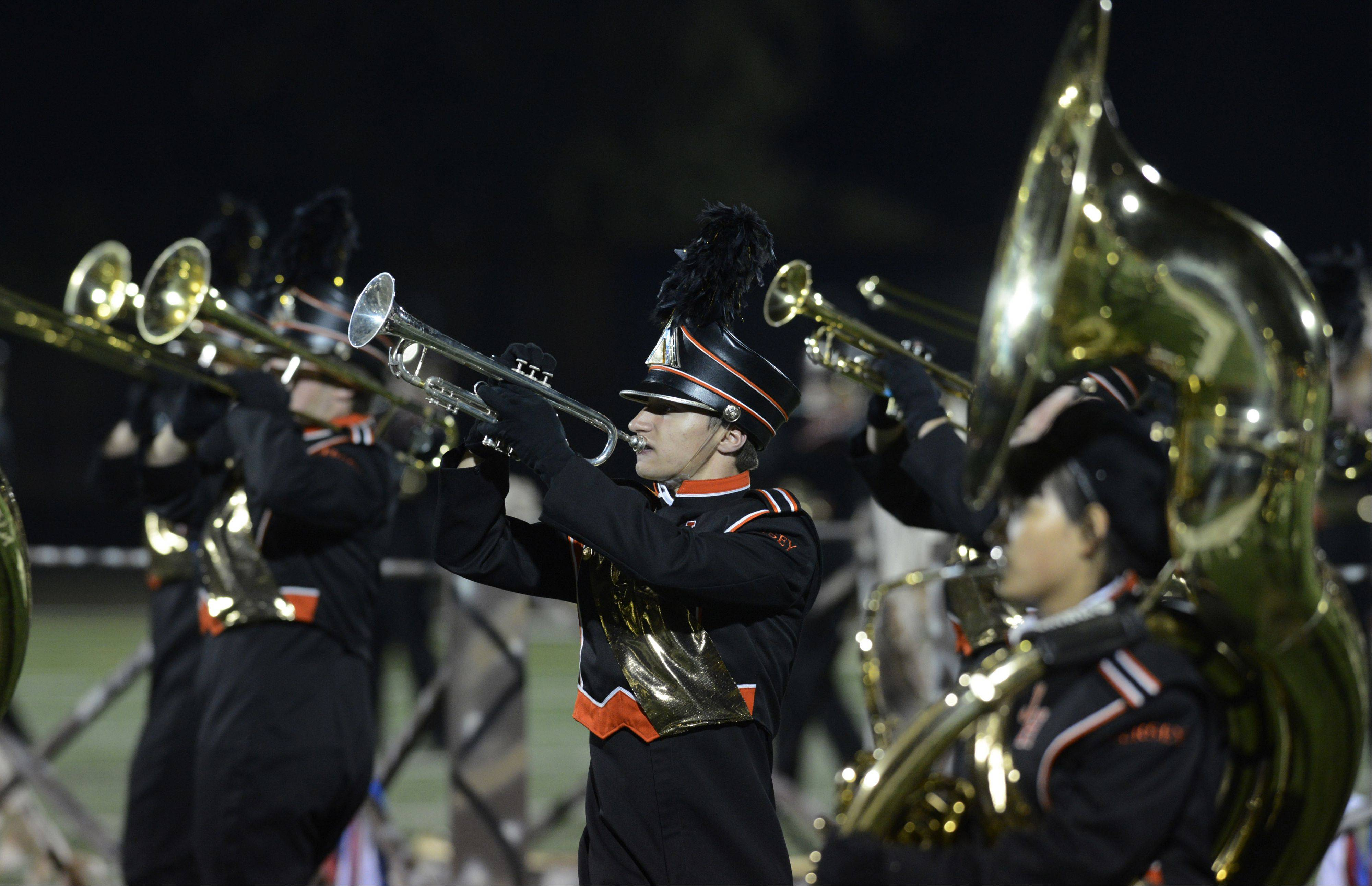 "JOE LEWNARD/jlewnard@dailyherald.comThe Hersey High School Marching Huskies captured the title of grand champions this year at the 46th annual Chicagoland Marching Band Festival at Wheeling High School with a performance themed on the French Revolution and ""Les Miserables."""