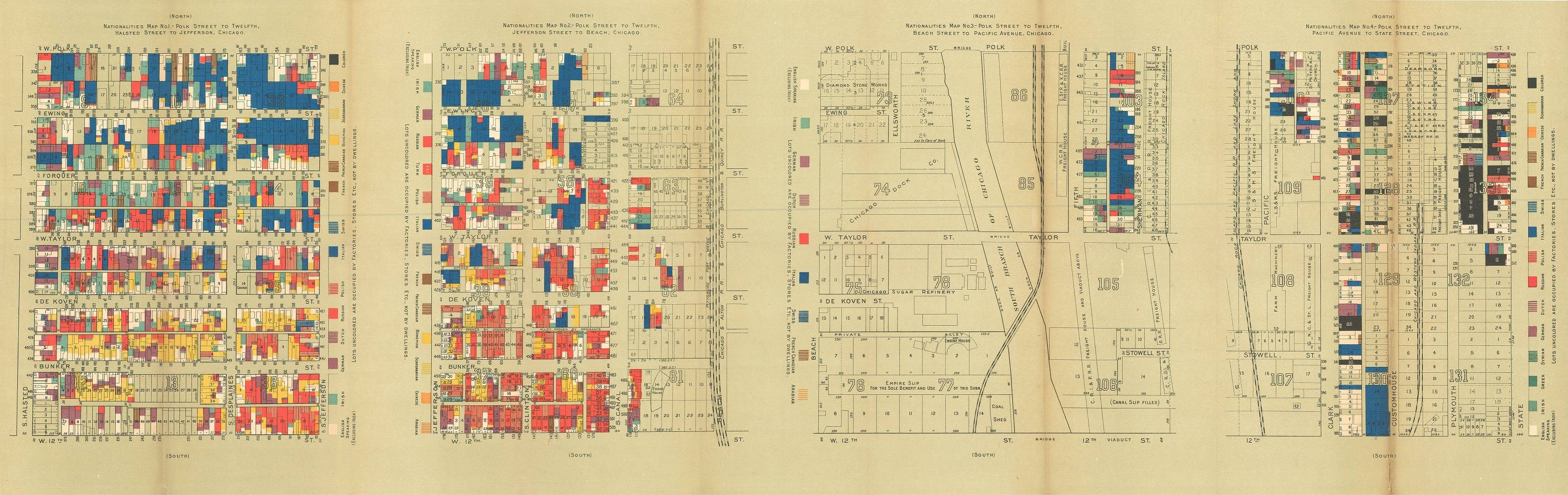 Chicago Wage Map from the Hull House Maps and Papers