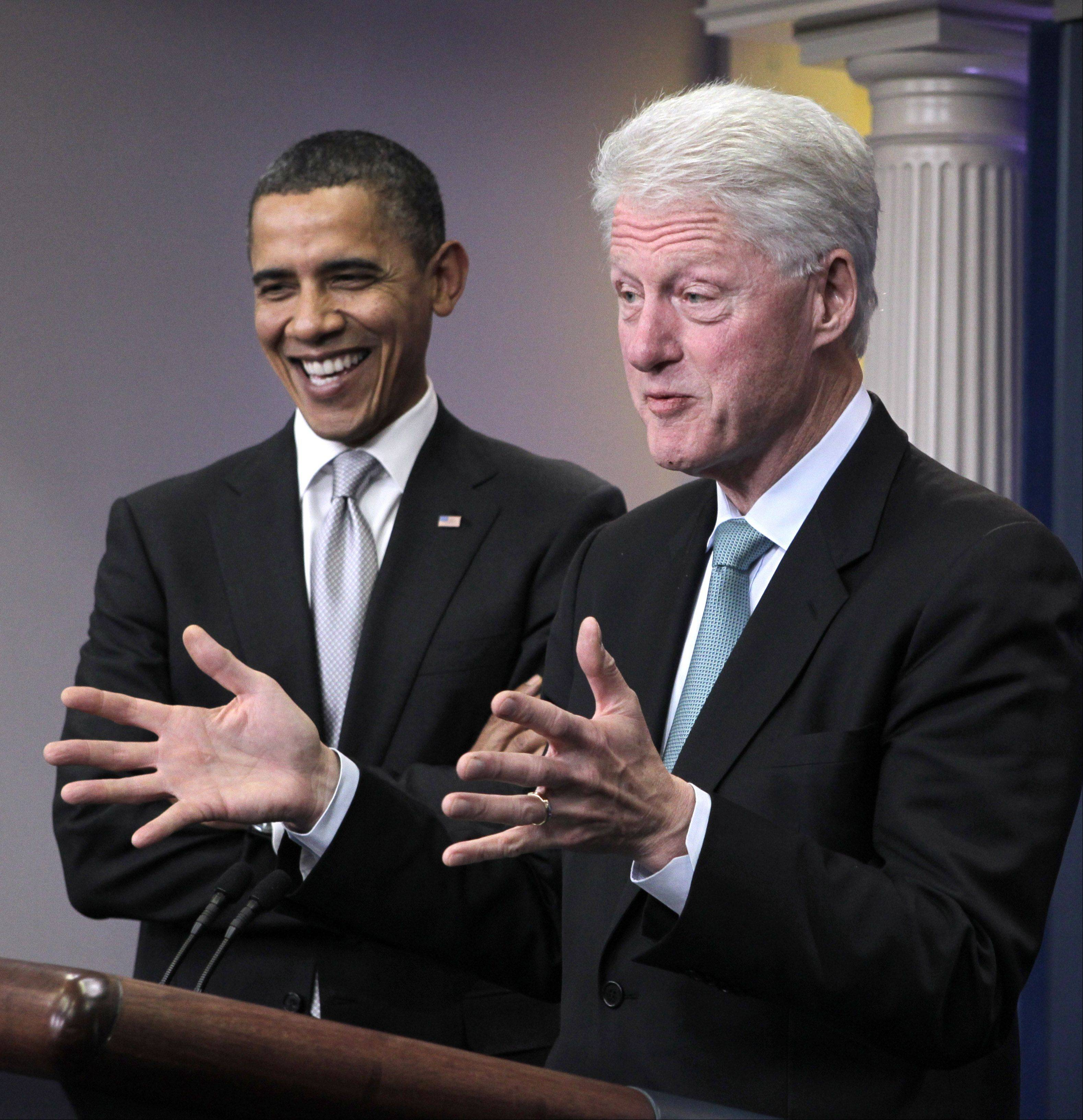 Health care is reuniting President Barack Obama and former President Bill Clinton.
