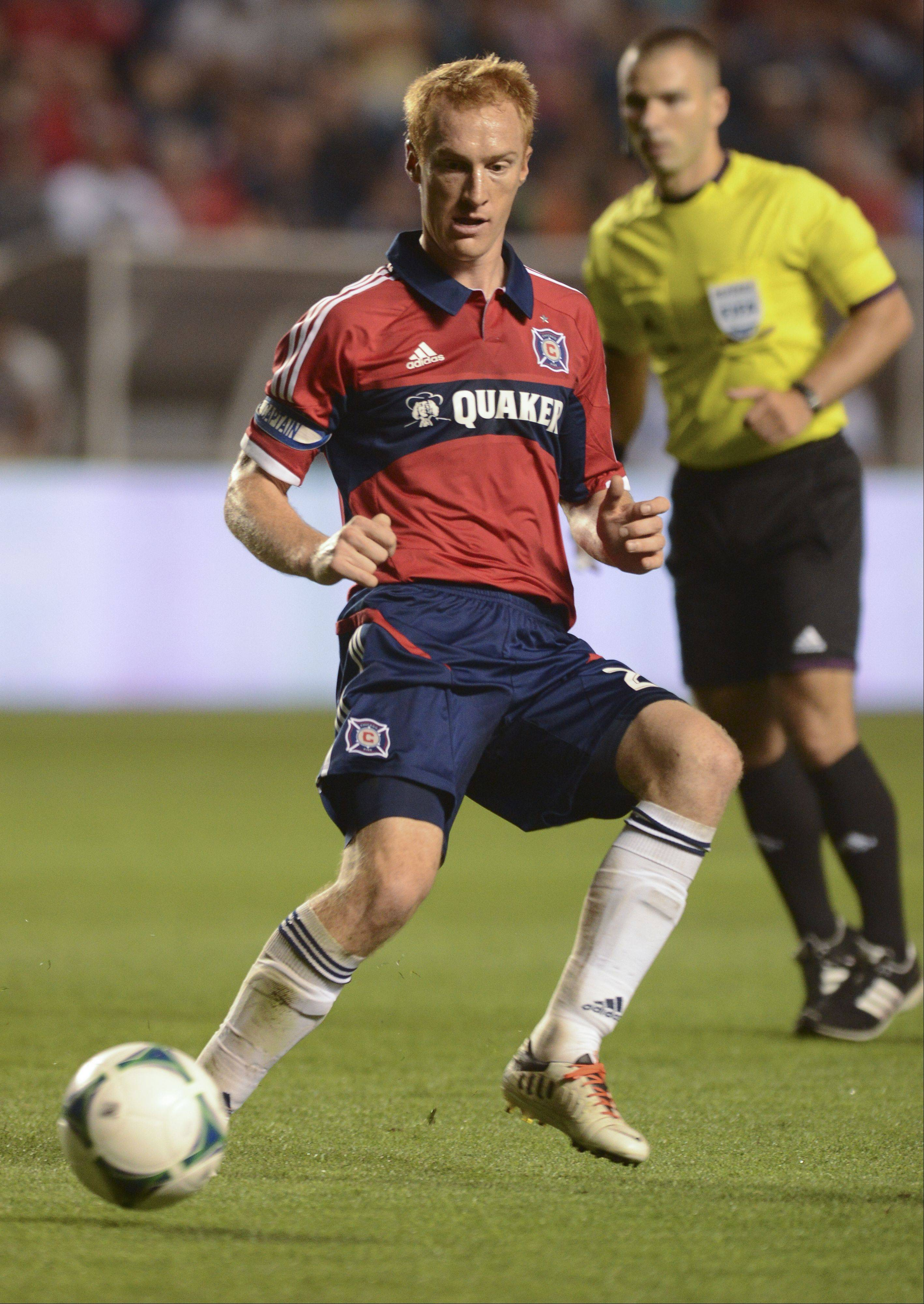 Jeff Larentowicz could start at center back for the Chicago Fire in Saturday's home match against the Montreal Impact.
