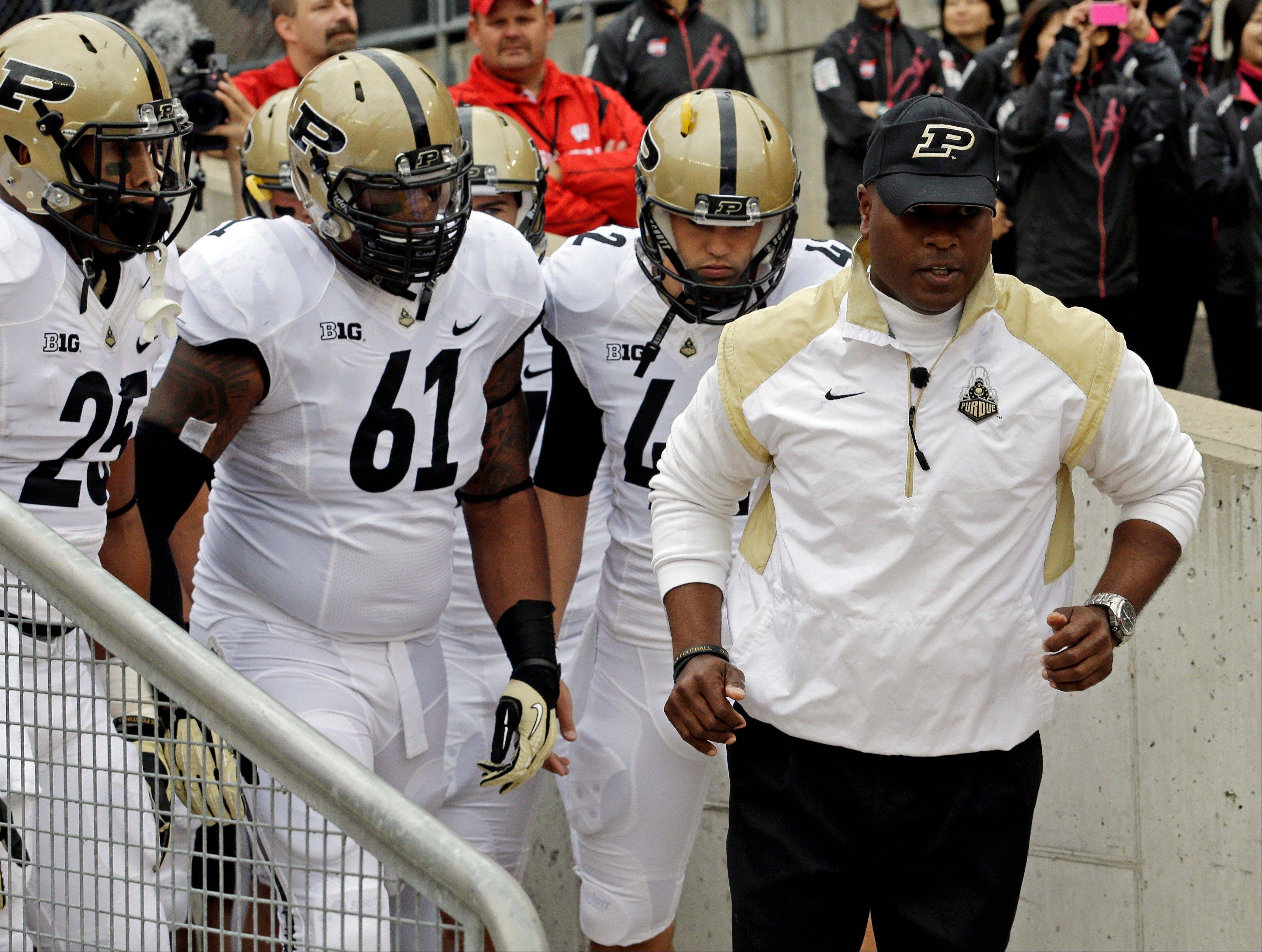 Purdue head coach Darrell Hazell and the Boilermakers will play Mid-American Conference favorite Northern Illinois on Saturday.