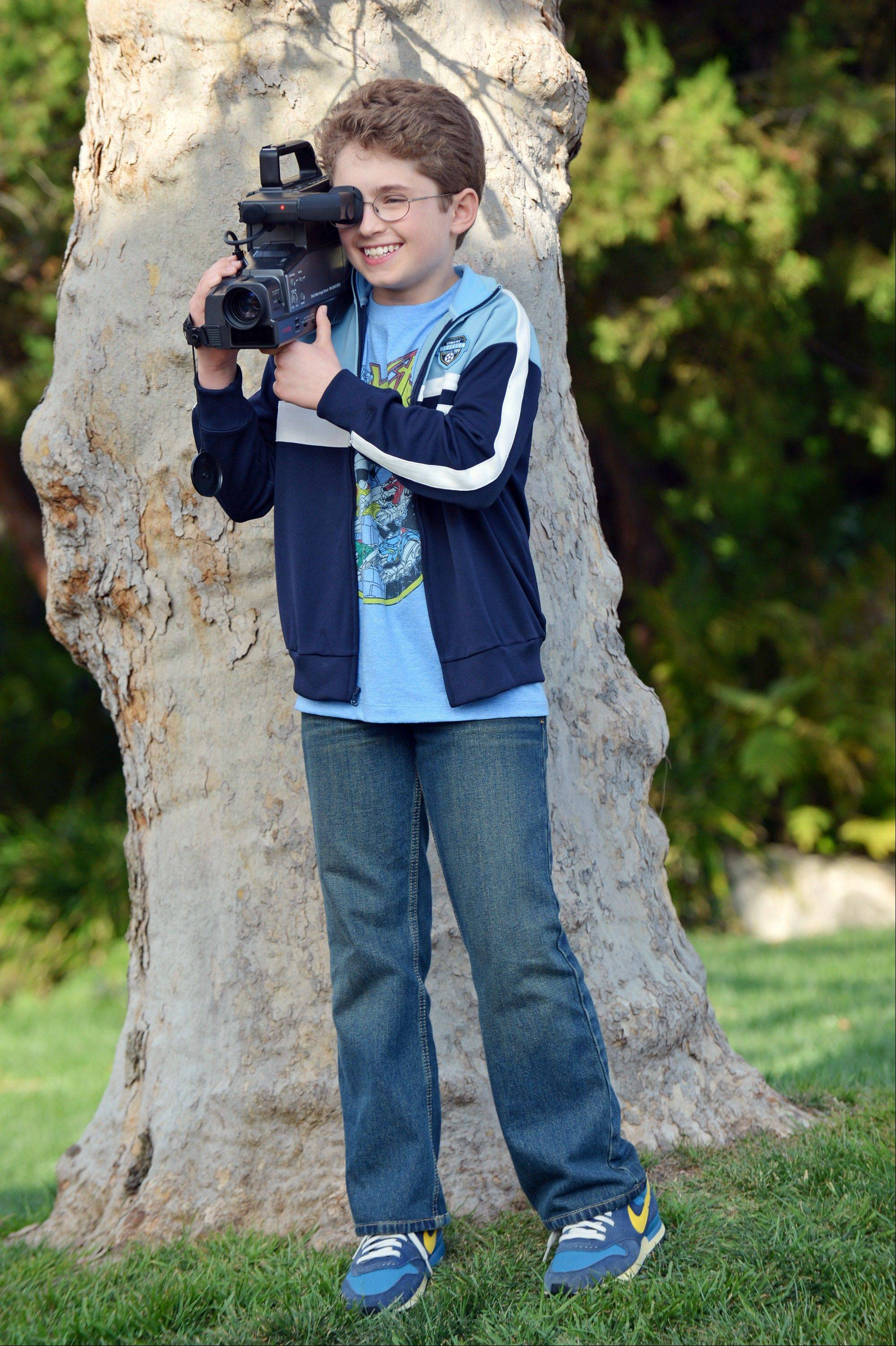 "Sean Gianbrone portrays the precocious, camera-wielding Adam Goldberg in ABC's ""The Goldbergs."""