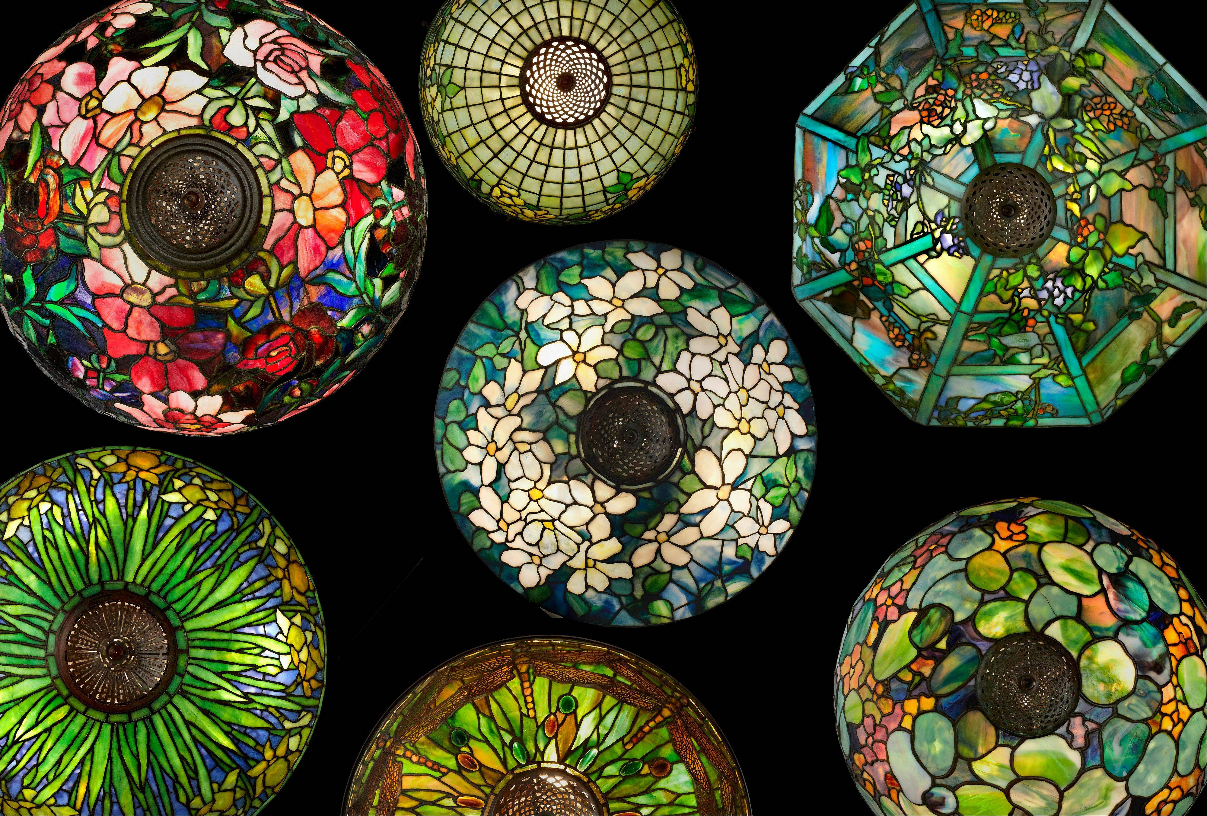 "Table lamps are featured in the Richard H. Driehaus Museum's exhibit ""Louis Comfort Tiffany: Treasures From the Driehaus Collection"" in Chicago."