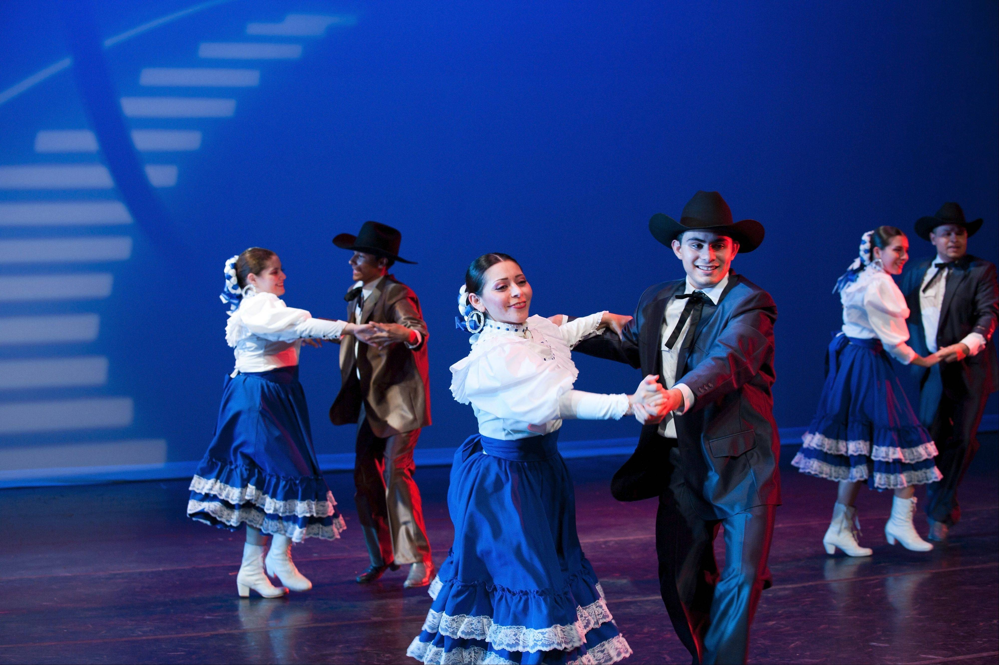 "Ballet Folklorico Huehuecoyotl performs ""Arriba el Norte!"" at Elgin Community College on Saturday, Sept. 28."