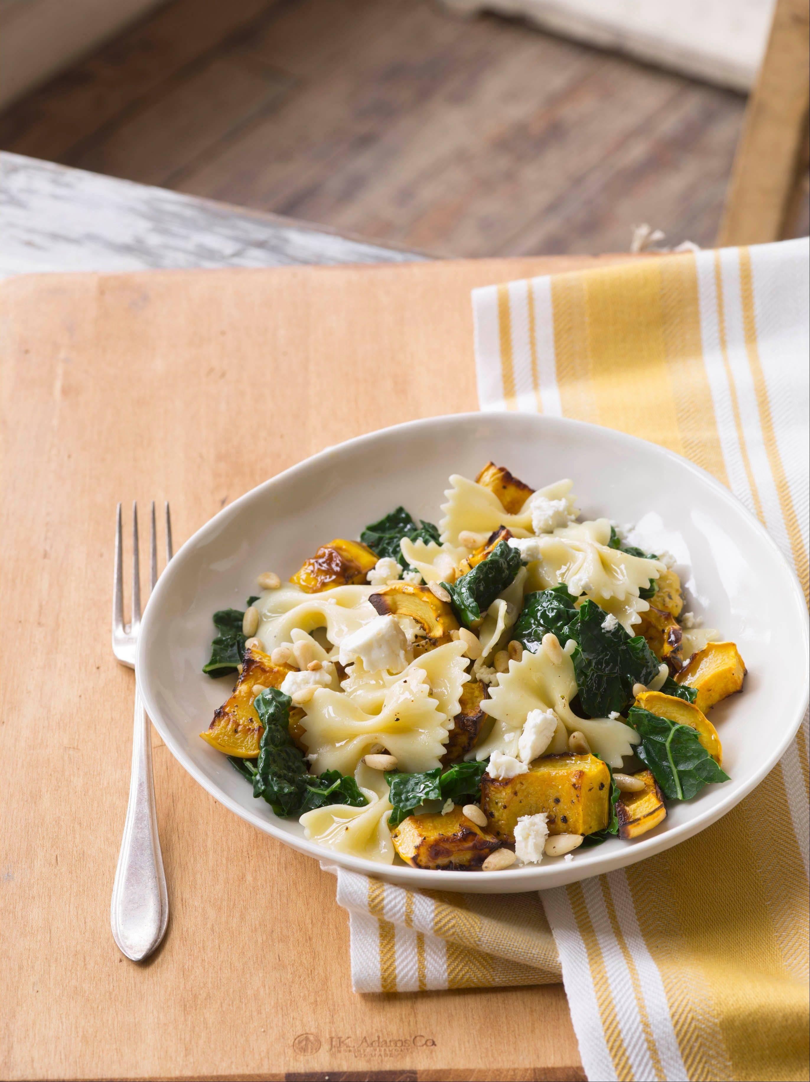 Roasted Delicata Squash and Tuscan Kale is sweetened with honey.
