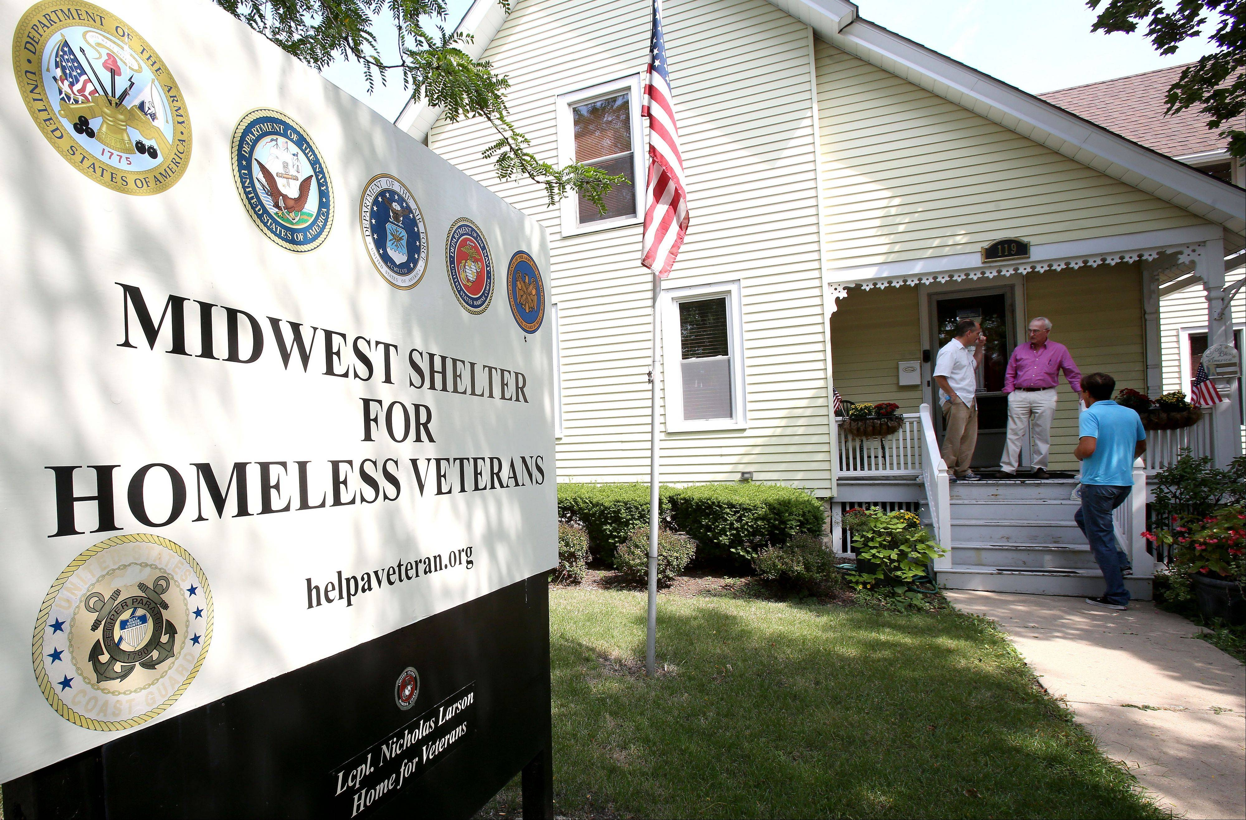 The Midwest Shelter for Homeless Veterans in Wheaton was started by Winfield resident Bob Adams, with a big boost from actors Michael Shannon and Guy Van Swearingen.