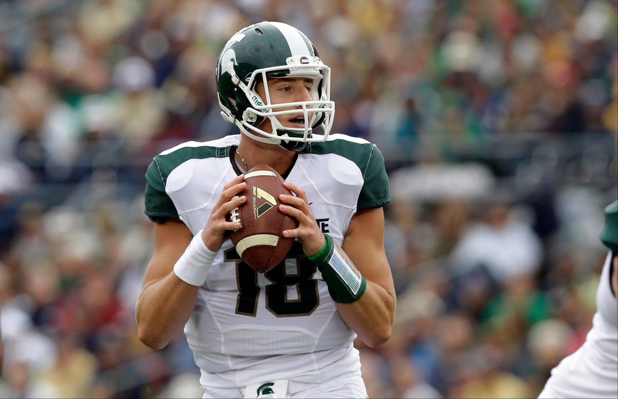 Michigan State quarterback Connor Cook throws against Notre Dame during the first half of last week�s game in South Bend, Ind.