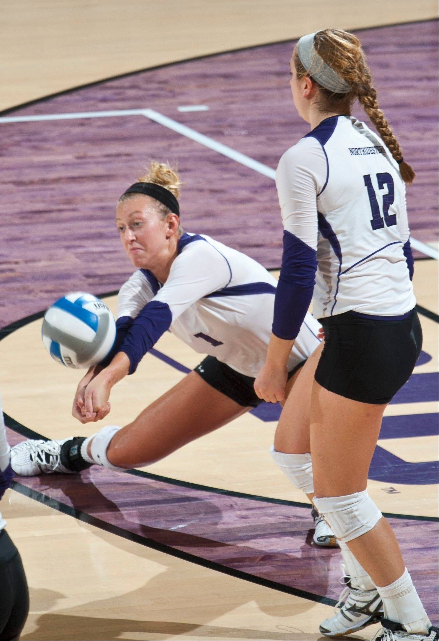 Burlington Central graduate and Northwestern University senior Stephanie Holthus was named the AVCA National Player of the Week for her performance in the Wildcat Invitational last weekend.