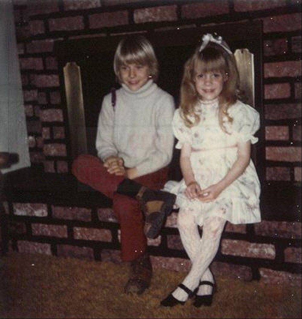 A young Kurt Cobain, left, and his sister, Kim, in their childhood home in Aberdeen, Wash. Cobain's mother, Wendy O'Connor, is putting the 1.5-story bungalow -- which is assessed at less than $67,000 -- on the market for $500,000.