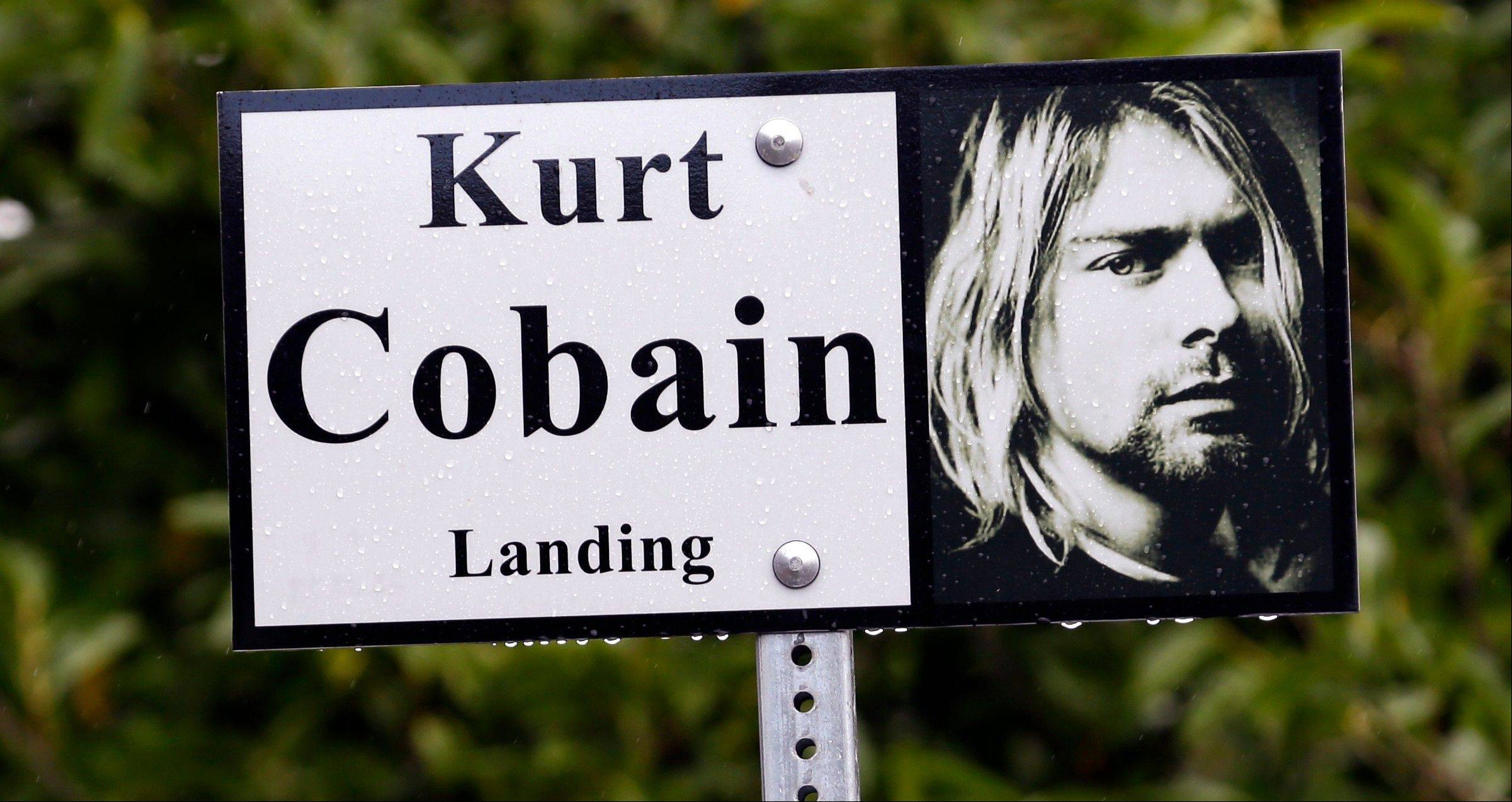 """Kurt Cobain Landing,"" a tiny park blocks from the childhood home of Kurt Cobain, the late frontman of Nirvana, in Aberdeen, Wash."