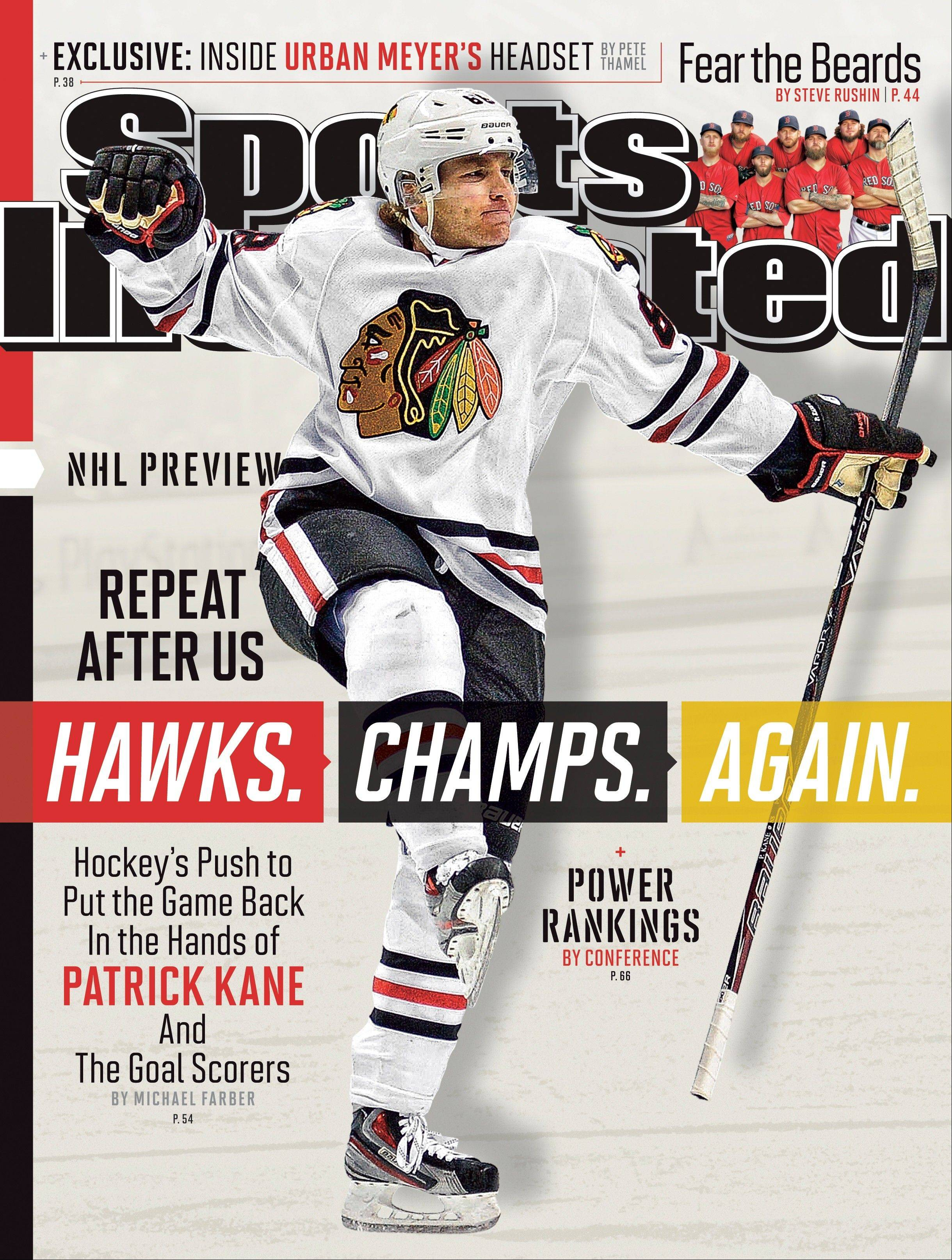 The national cover of Sports Illustrated, featuring Patrick Kane of Chicago Blackhawks, marking the fourth cover the Blackhawks have been featured on in just more than six months and the second national one.